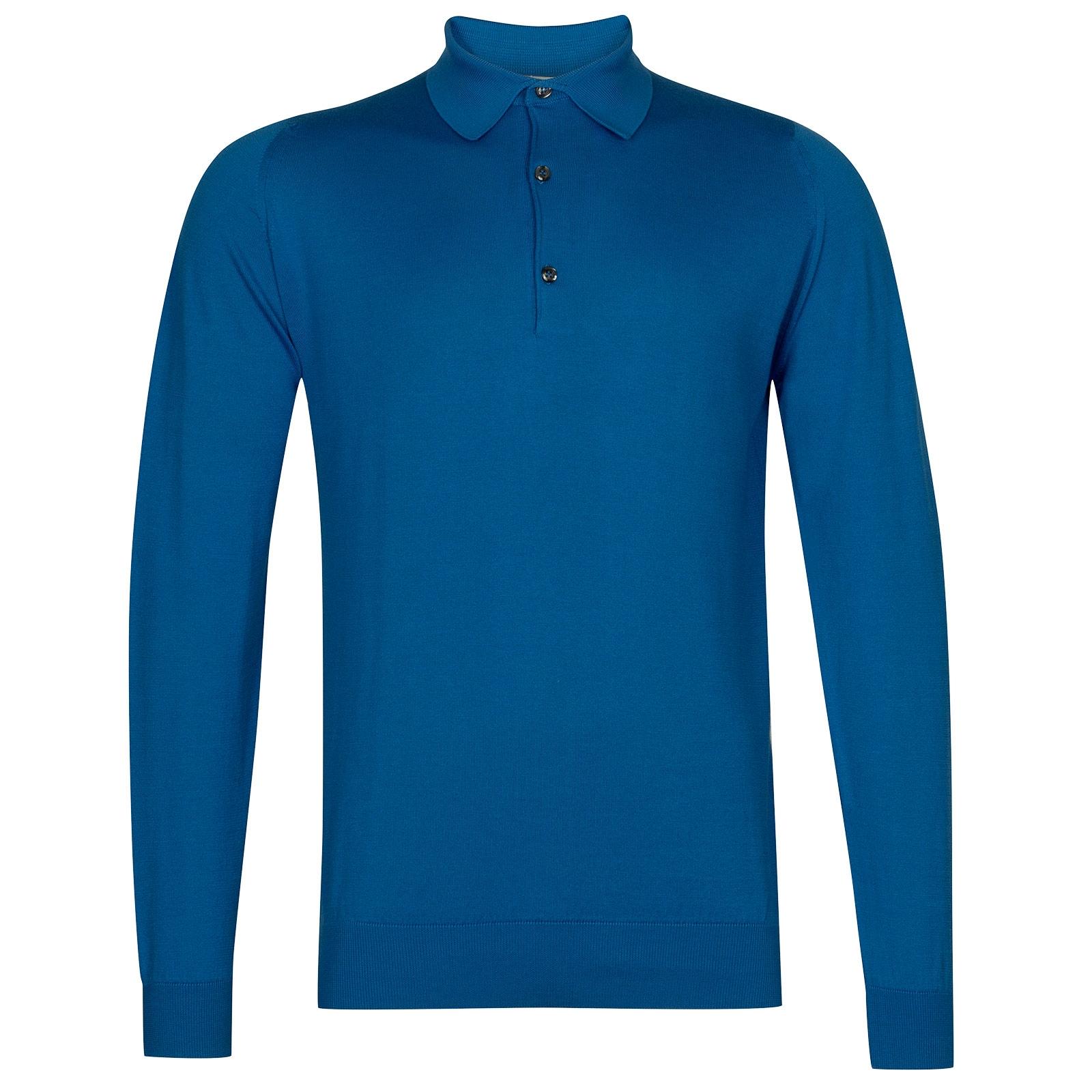 John Smedley Bradwell in Statice Blue Shirt-MED