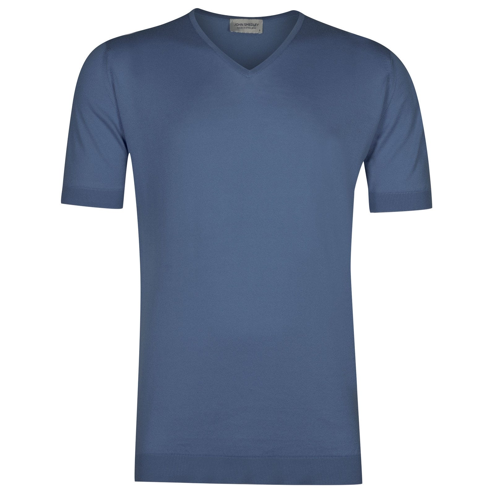 John Smedley Braedon in Blue Iris T-Shirt-MED