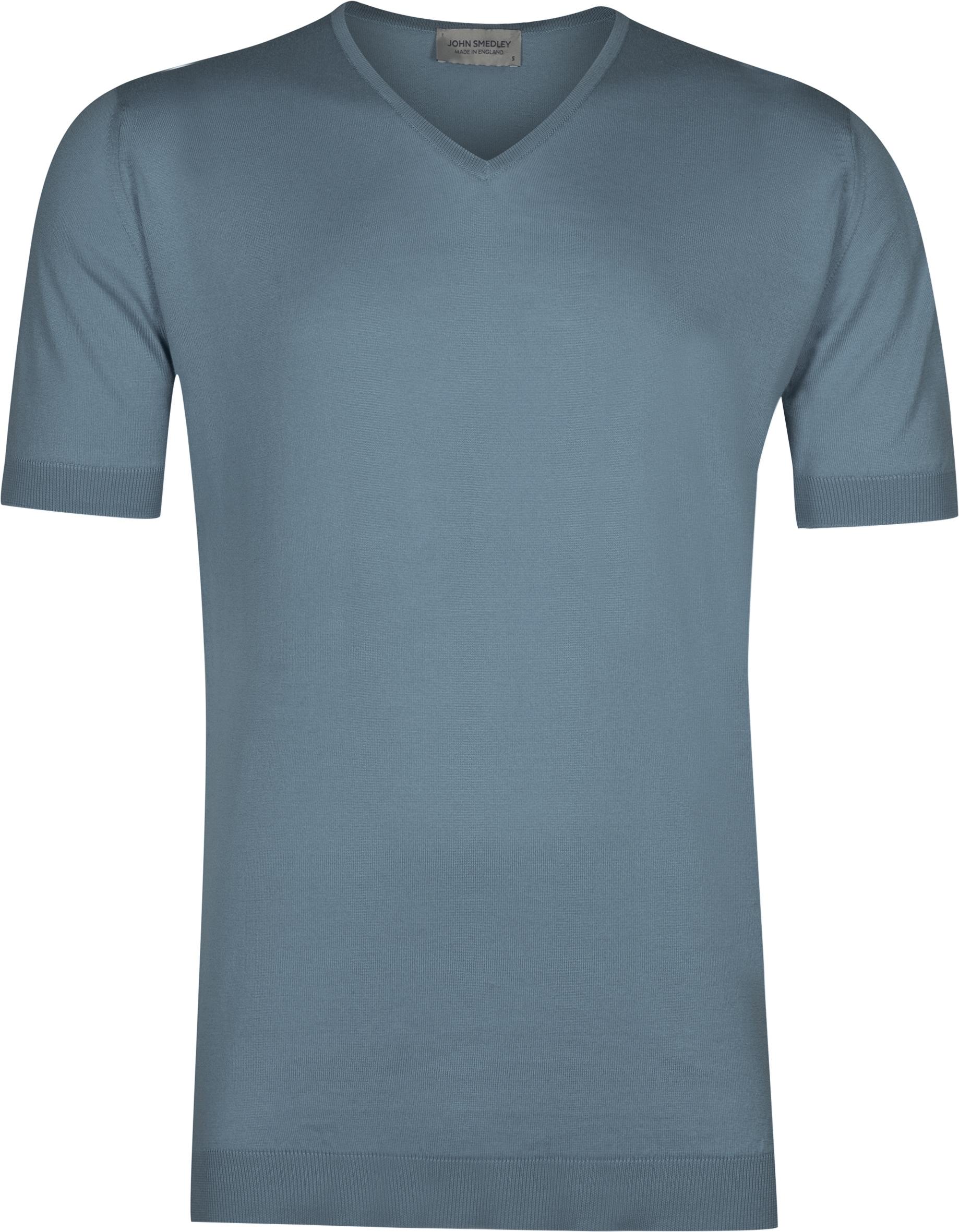 John Smedley Braedon in Dewdrop Blue T-Shirt-MED