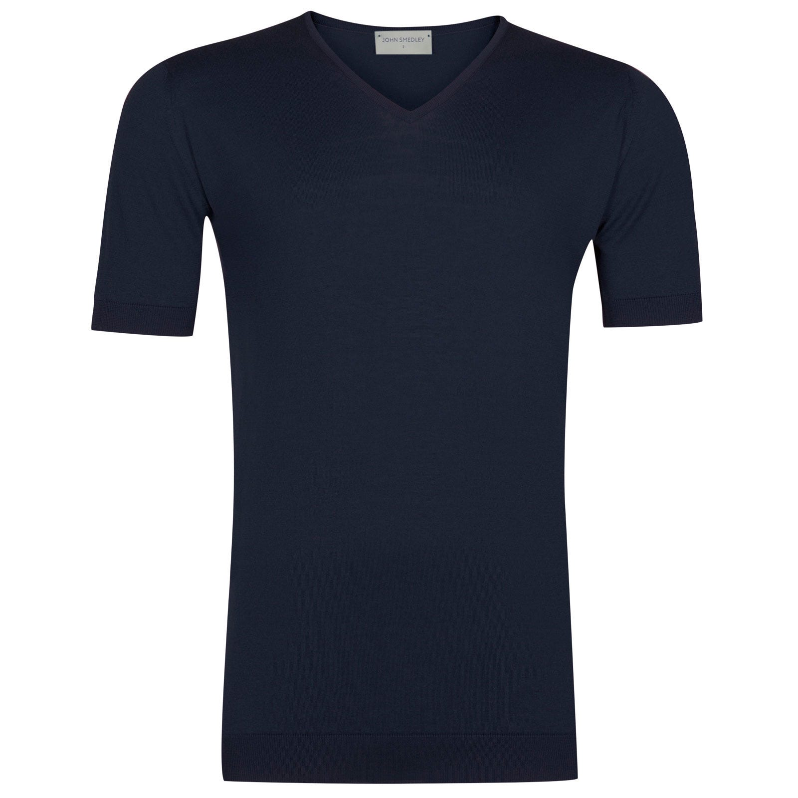 John Smedley Braedon Sea Island Cotton T-shirt in Navy-XL