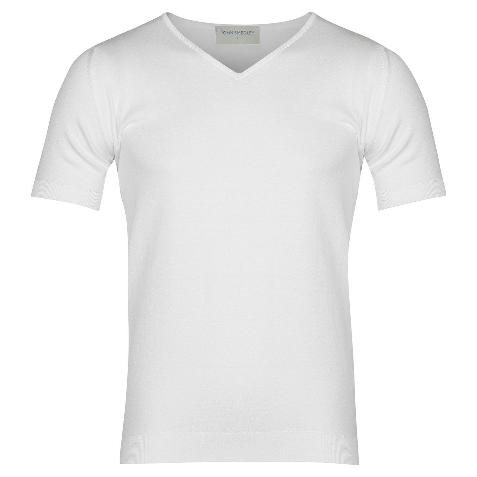John Smedley Braedon Sea Island Cotton T-shirt in White-XXL