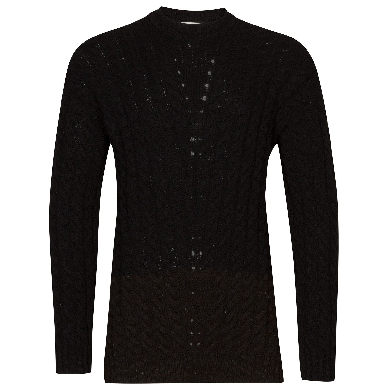 John Smedley brecon British Wool & Cashmere Wool Pullover in Black-M