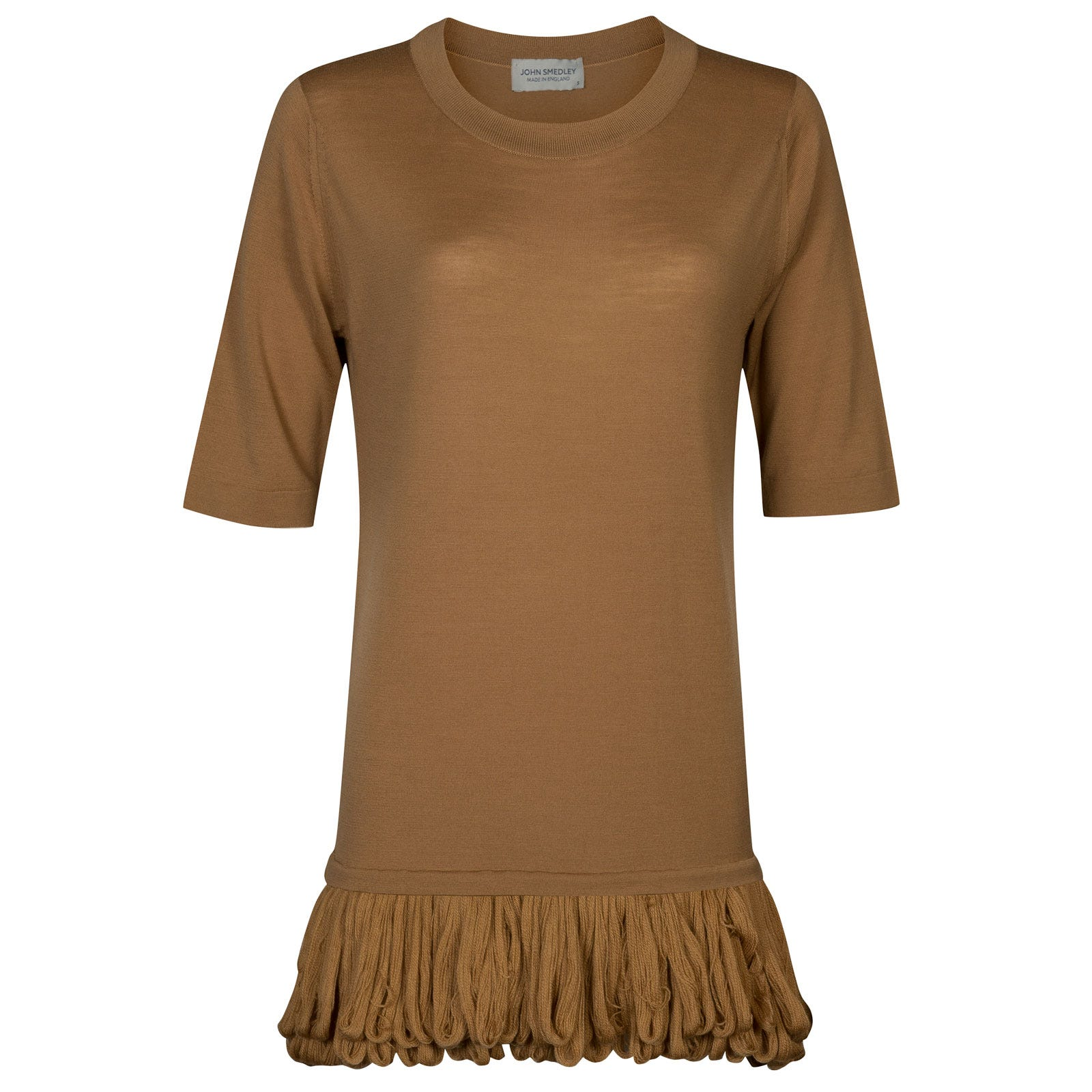 John Smedley briar Merino Wool Sweater in Camel-XL