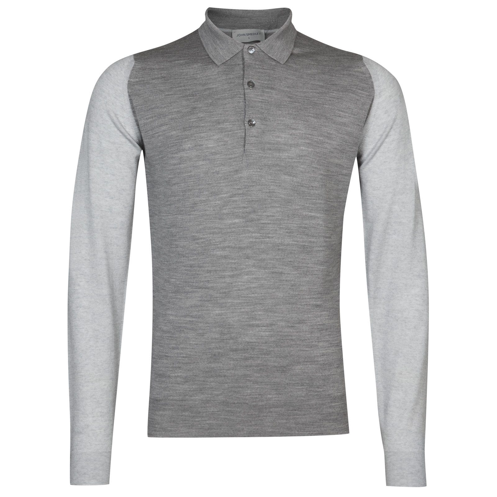 John Smedley Brightgate Extra Fine Merino Shirt in Silver-XXL