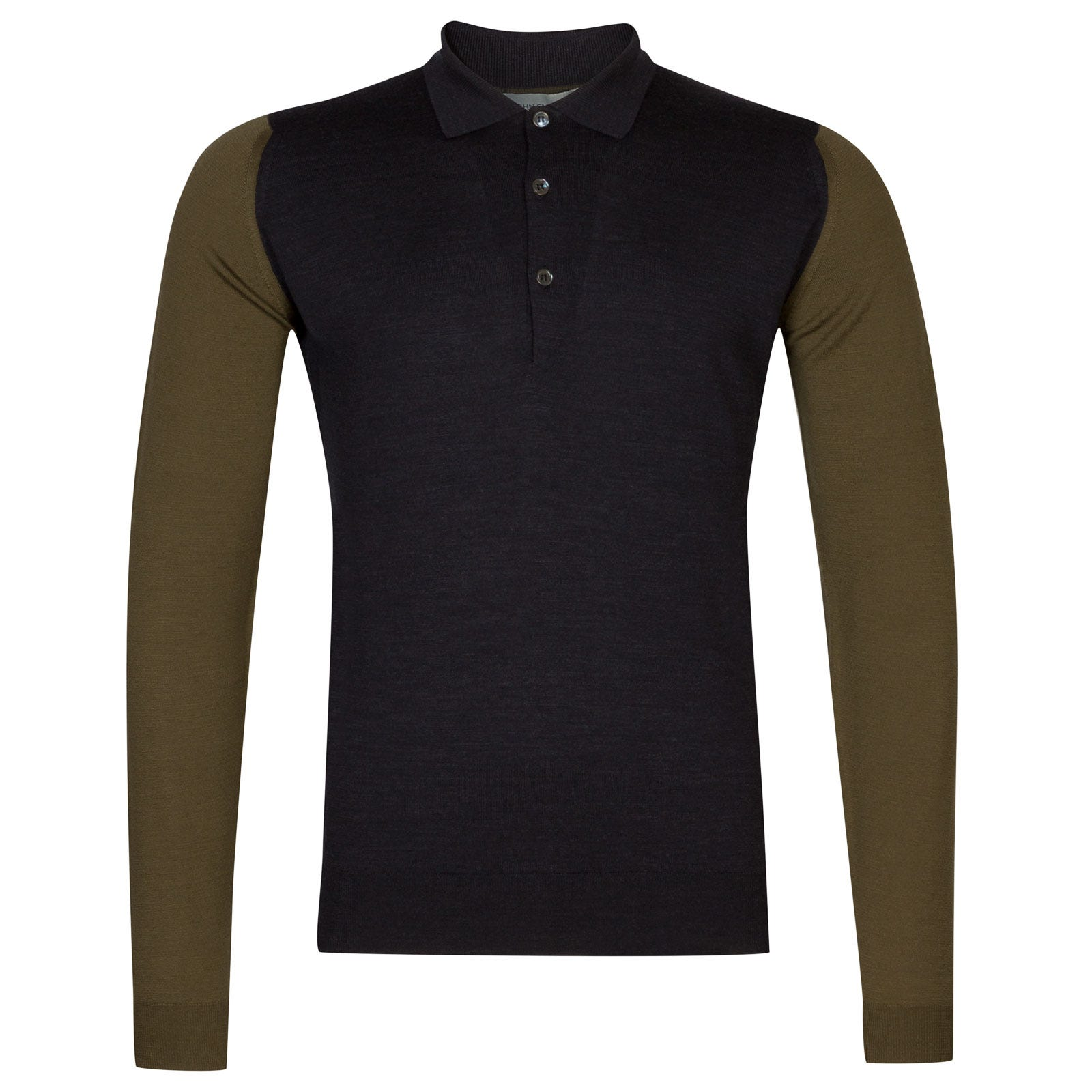 John Smedley Brightgate Merino Wool Shirt in Hepburn Smoke/Kielder