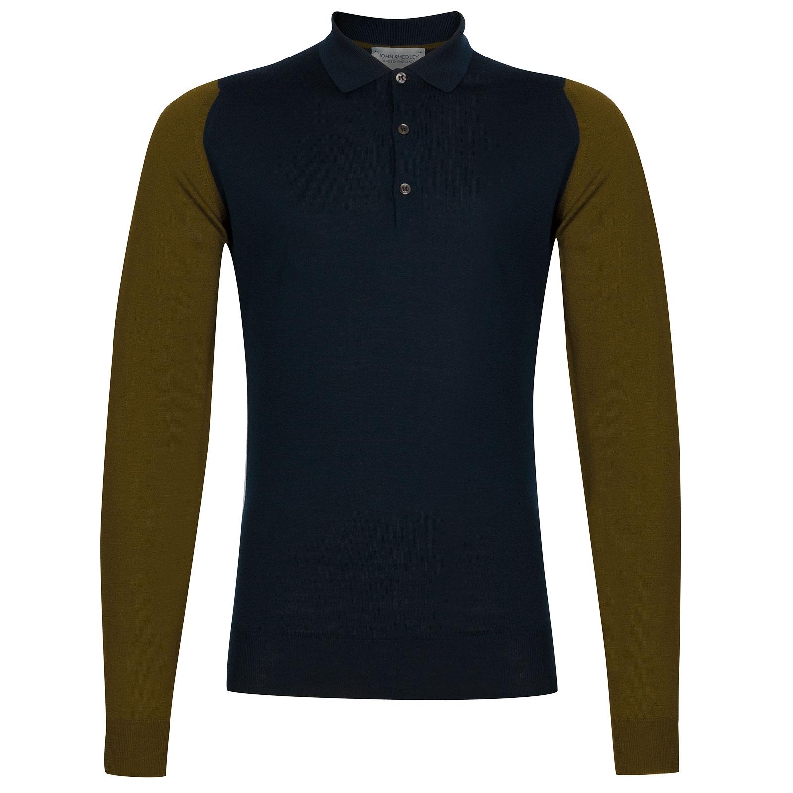 John Smedley Brightgate Extra Fine Merino Shirt in Silver-M