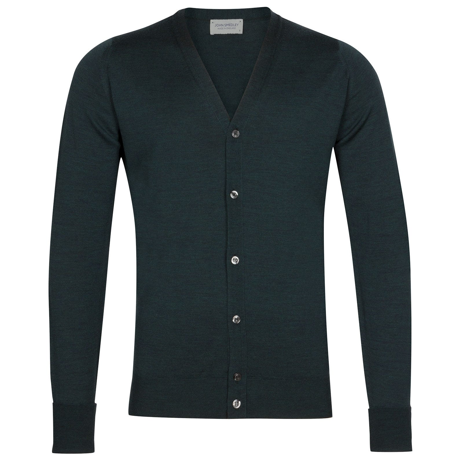 John Smedley Bryn Merino Wool Cardigan in Racing Green-XXL