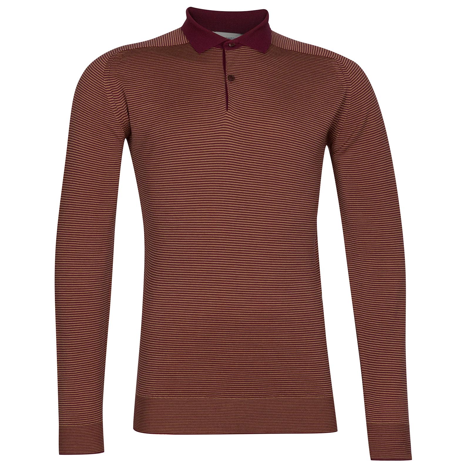 John Smedley Bunson Extra Fine Merino Shirt in Bordeaux-L
