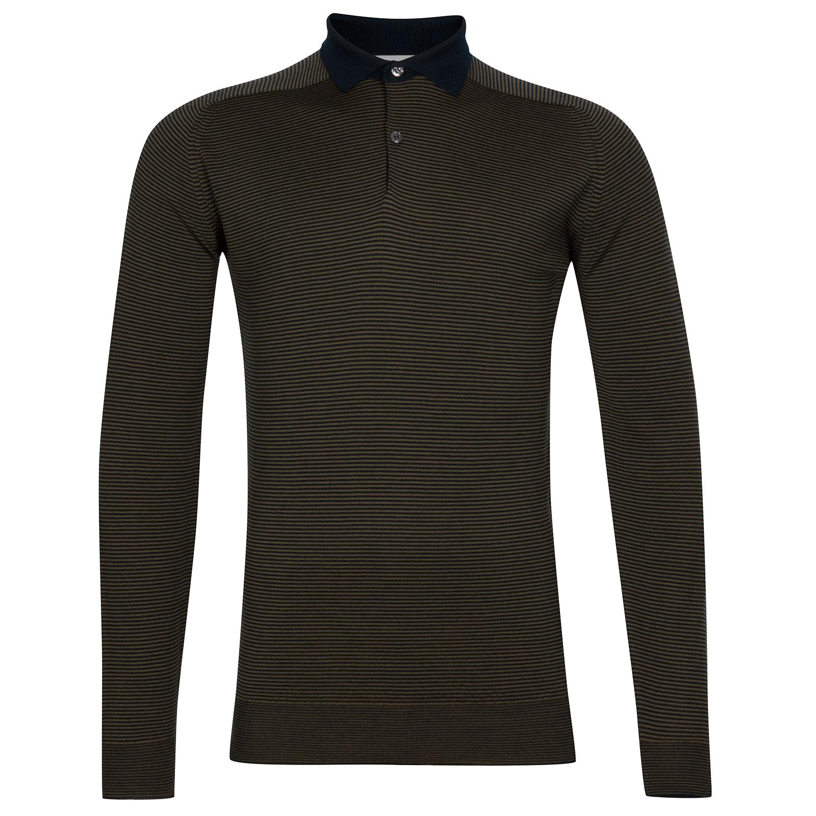 John Smedley Bunson Extra Fine Merino Shirt in Silver-XL