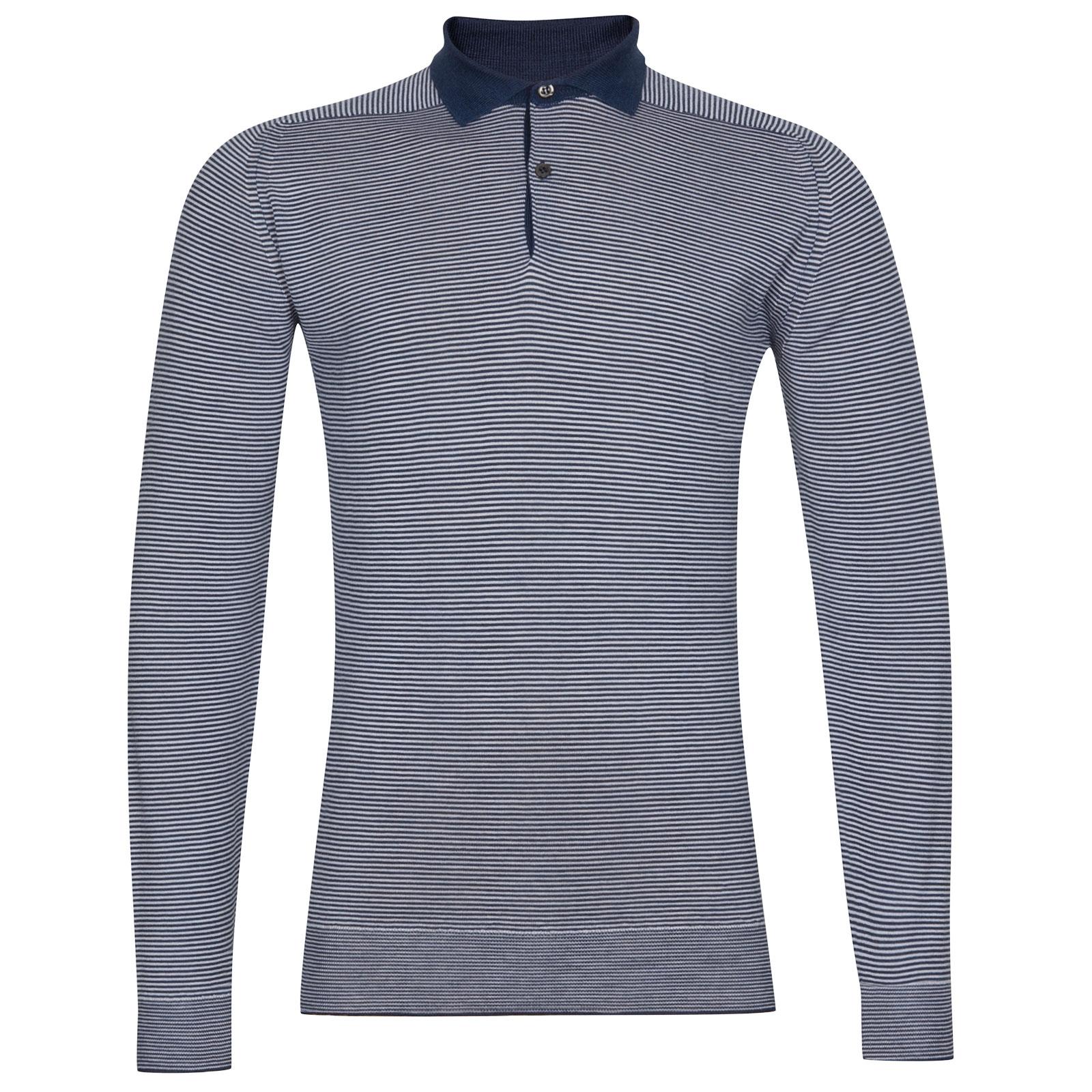 John Smedley Bunson Extra Fine Merino Shirt in Orion Green-XXL