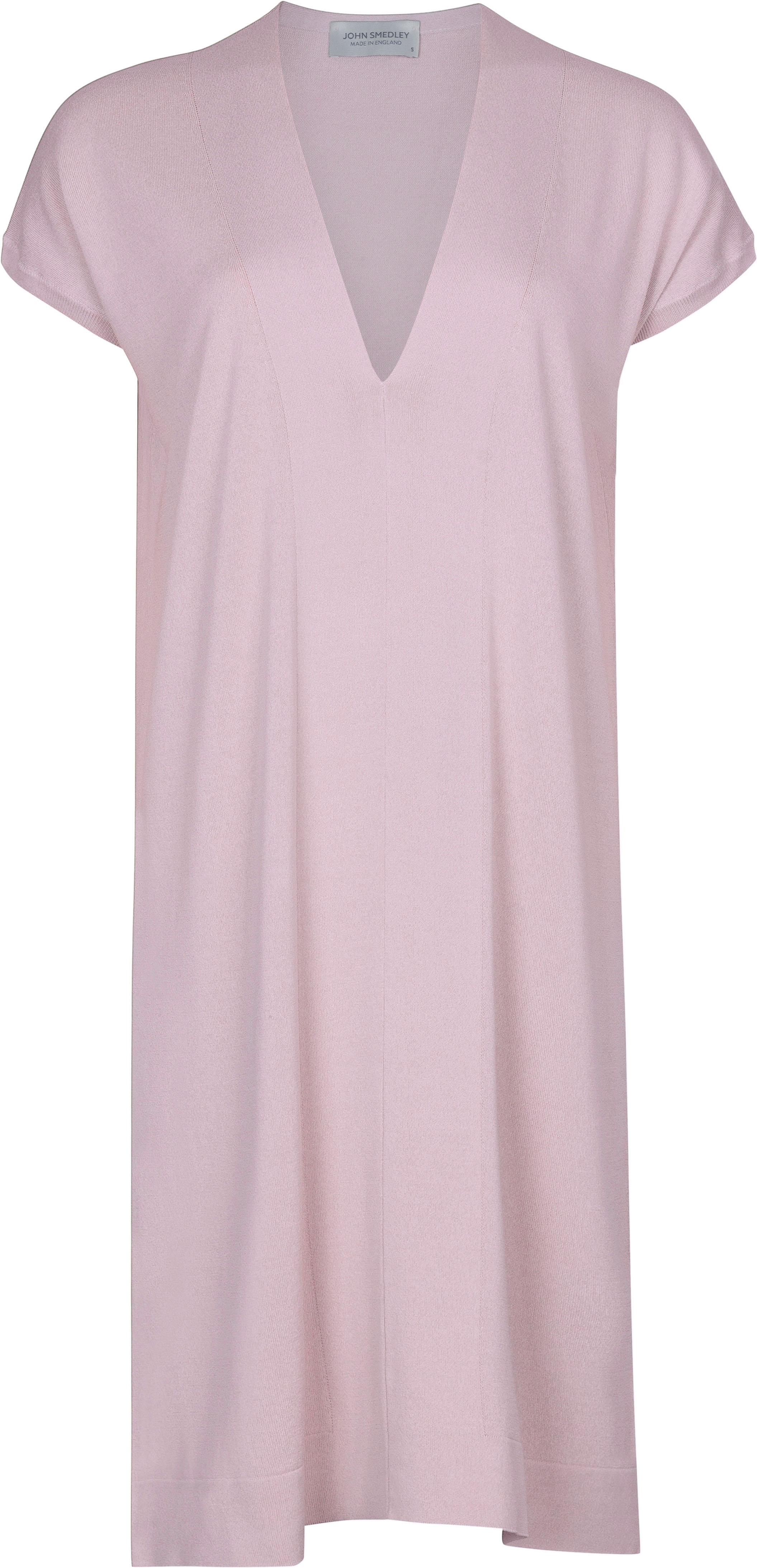 John Smedley Burdine in Pink Blossom Dress-LGE