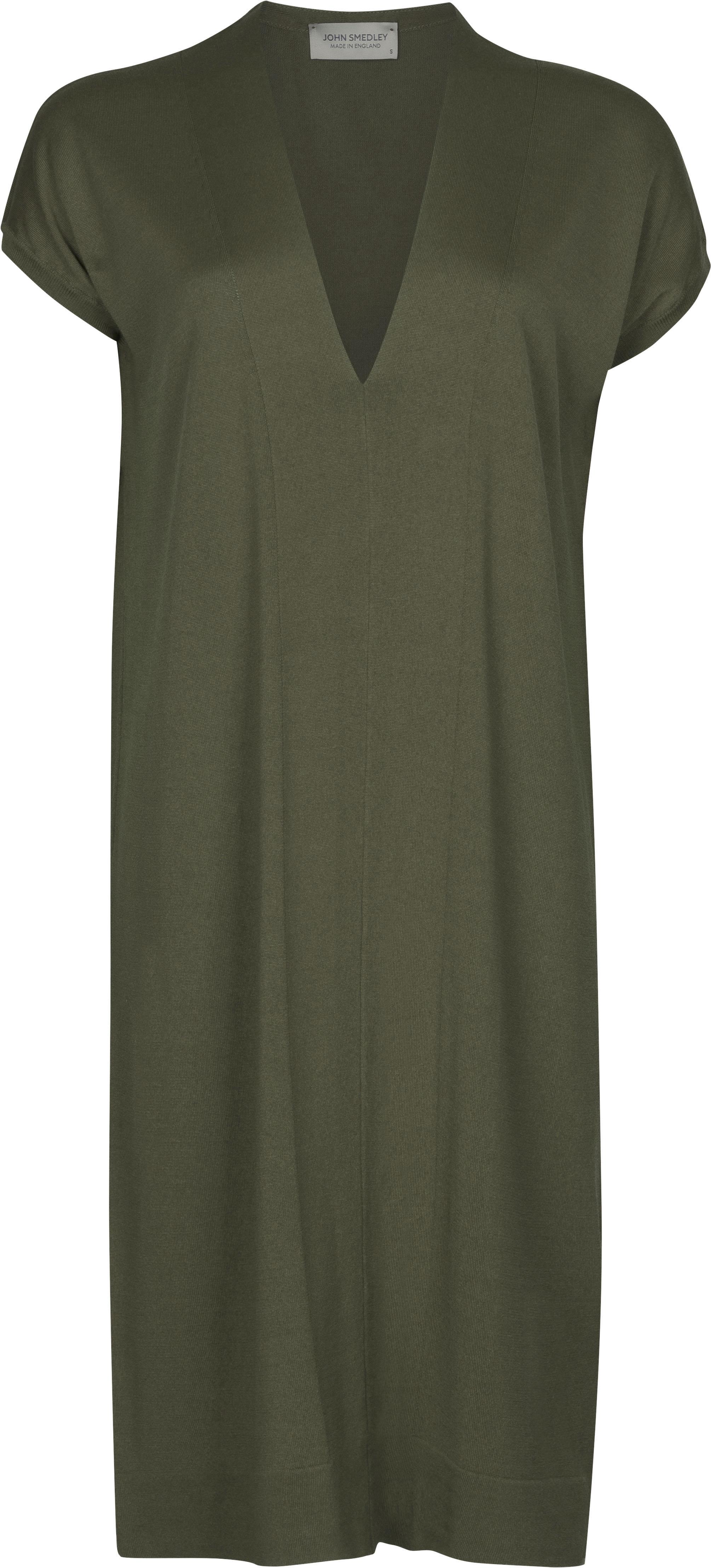 John Smedley Burdine in Sepal Green Dress-LGE