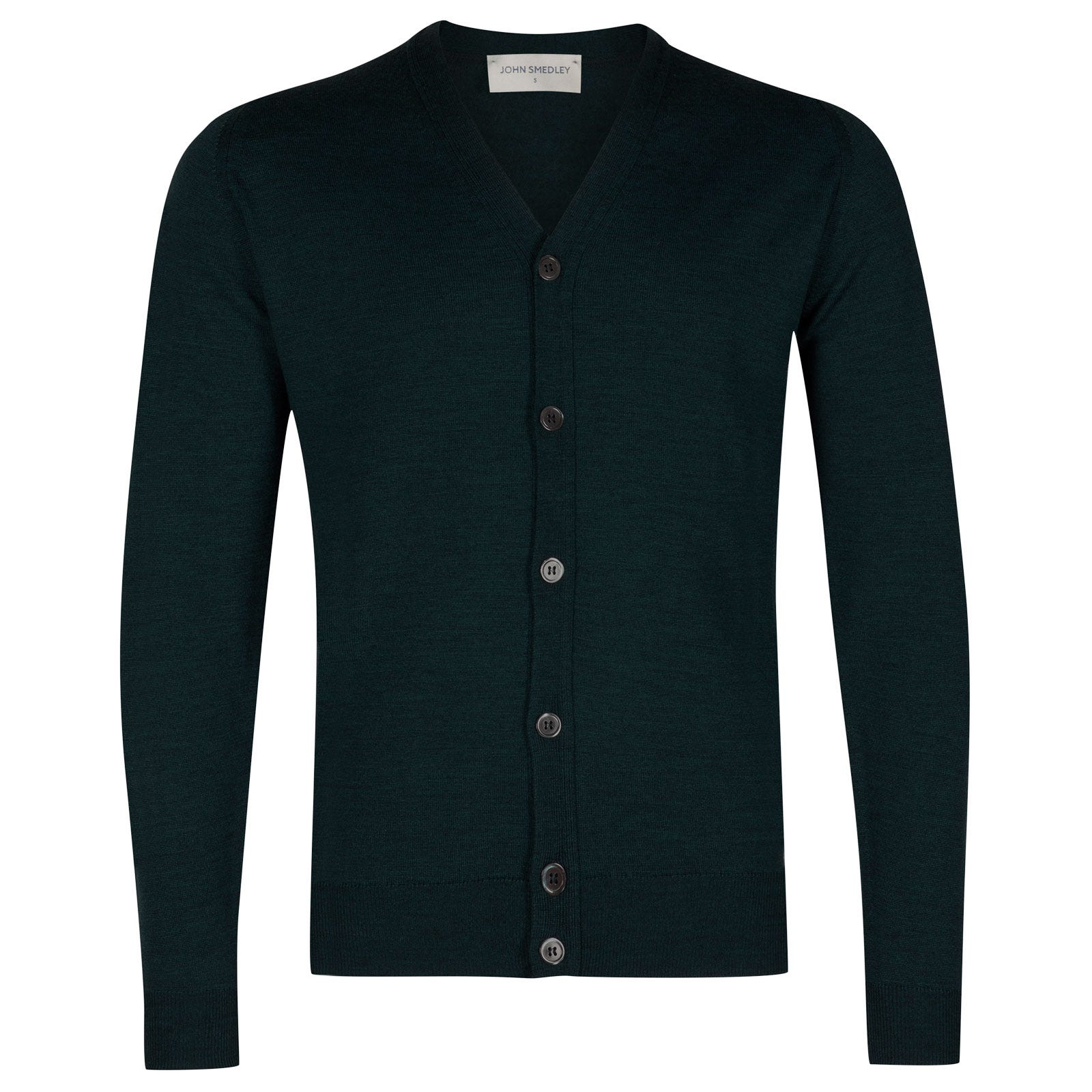 John Smedley burley Merino Wool Cardigan in Racing Green-S