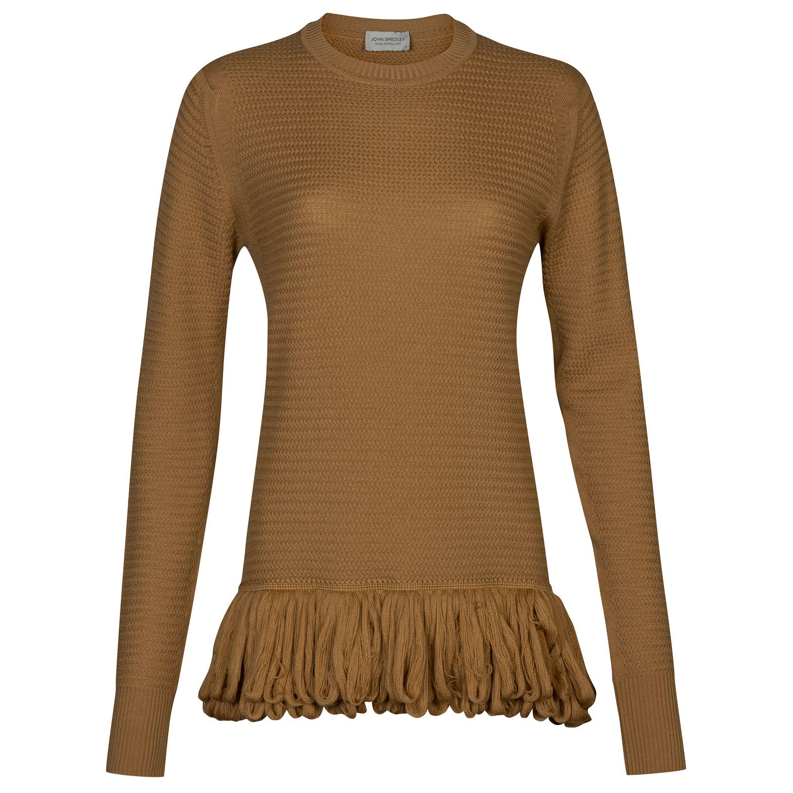 John Smedley burnet Merino Wool Sweater in Camel-S