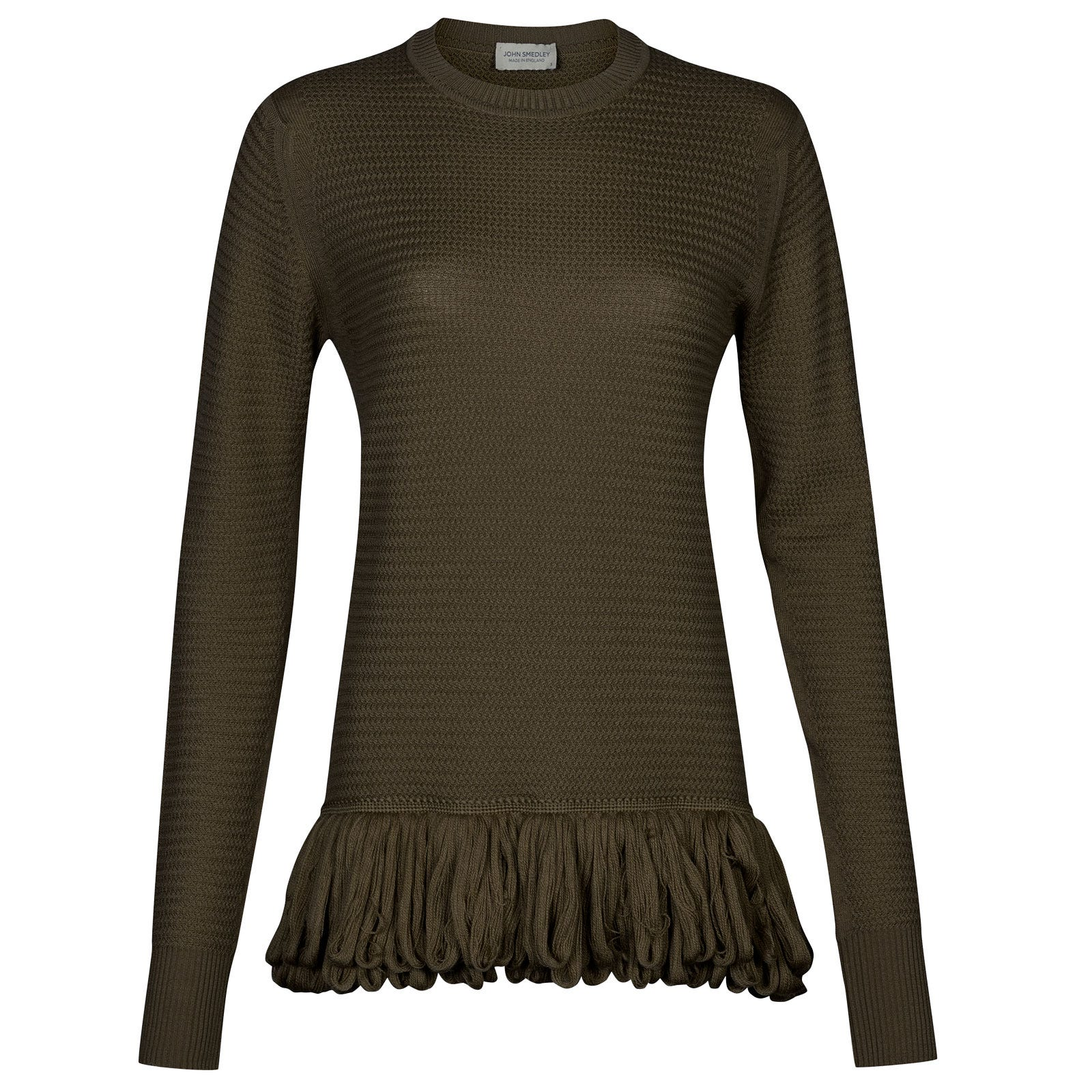 John Smedley burnet Merino Wool Sweater in Kielder Green-S