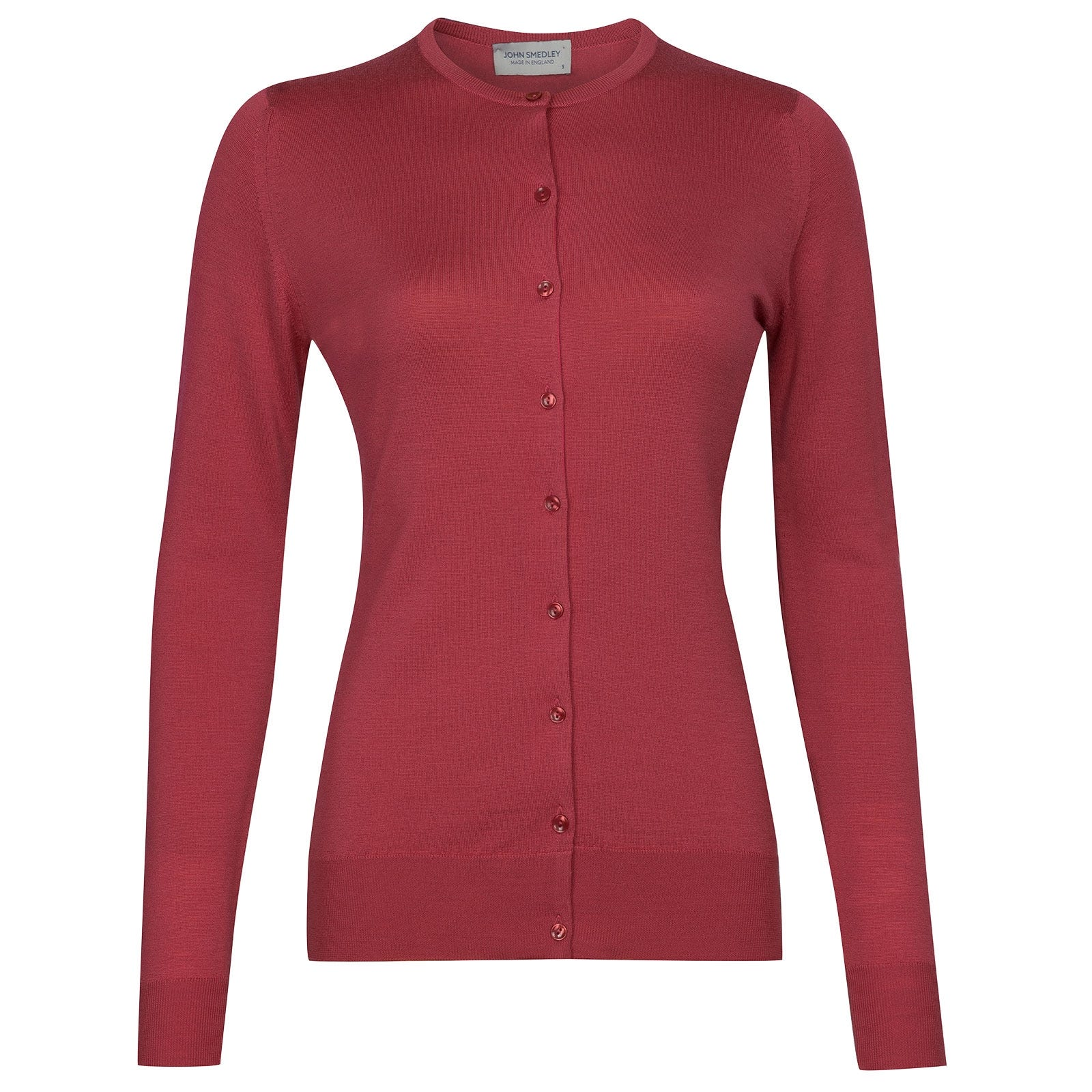 John Smedley Buttercup Cardigan in Atomic Cerise-XL