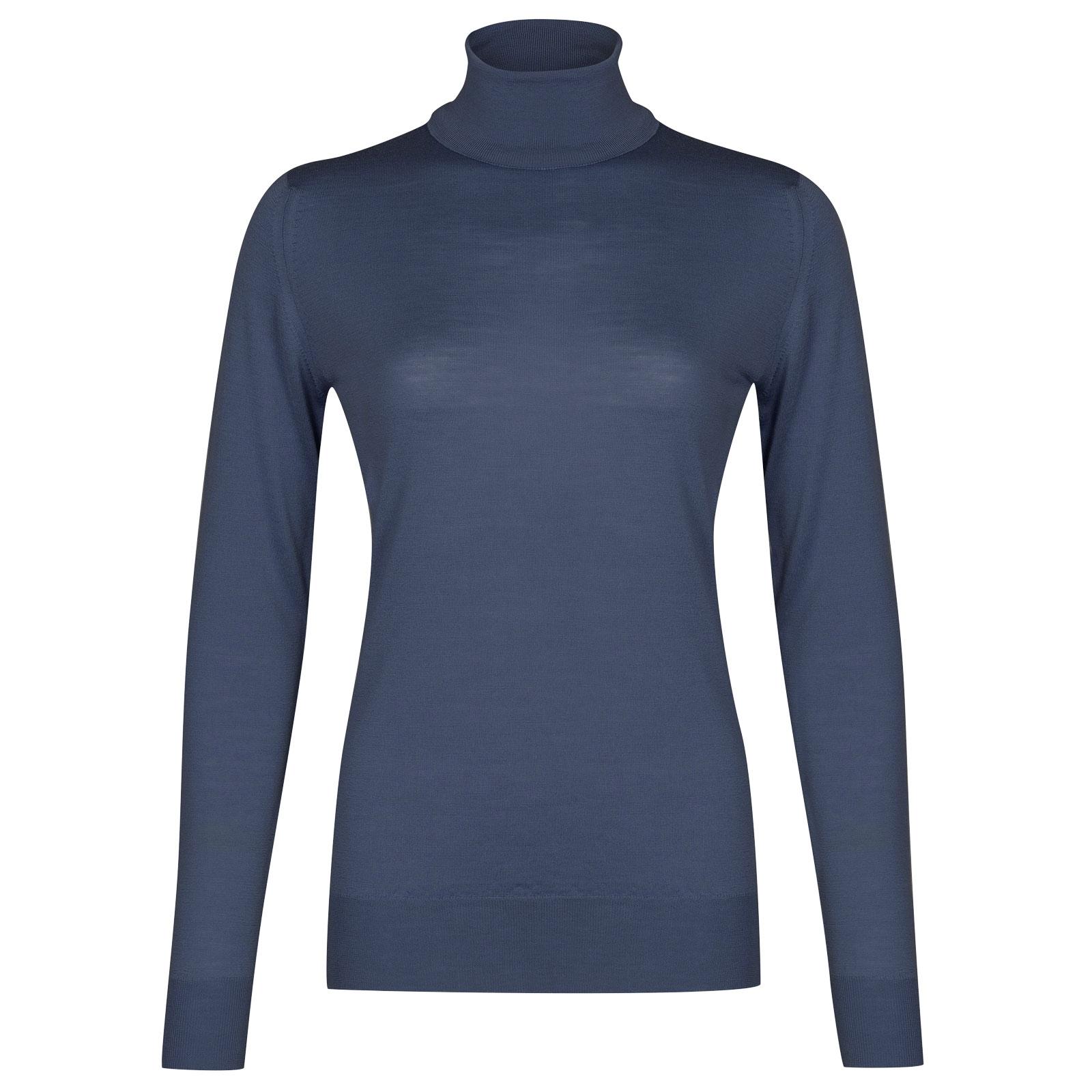 John Smedley Catkin Sweater in Aspect Purple-XL