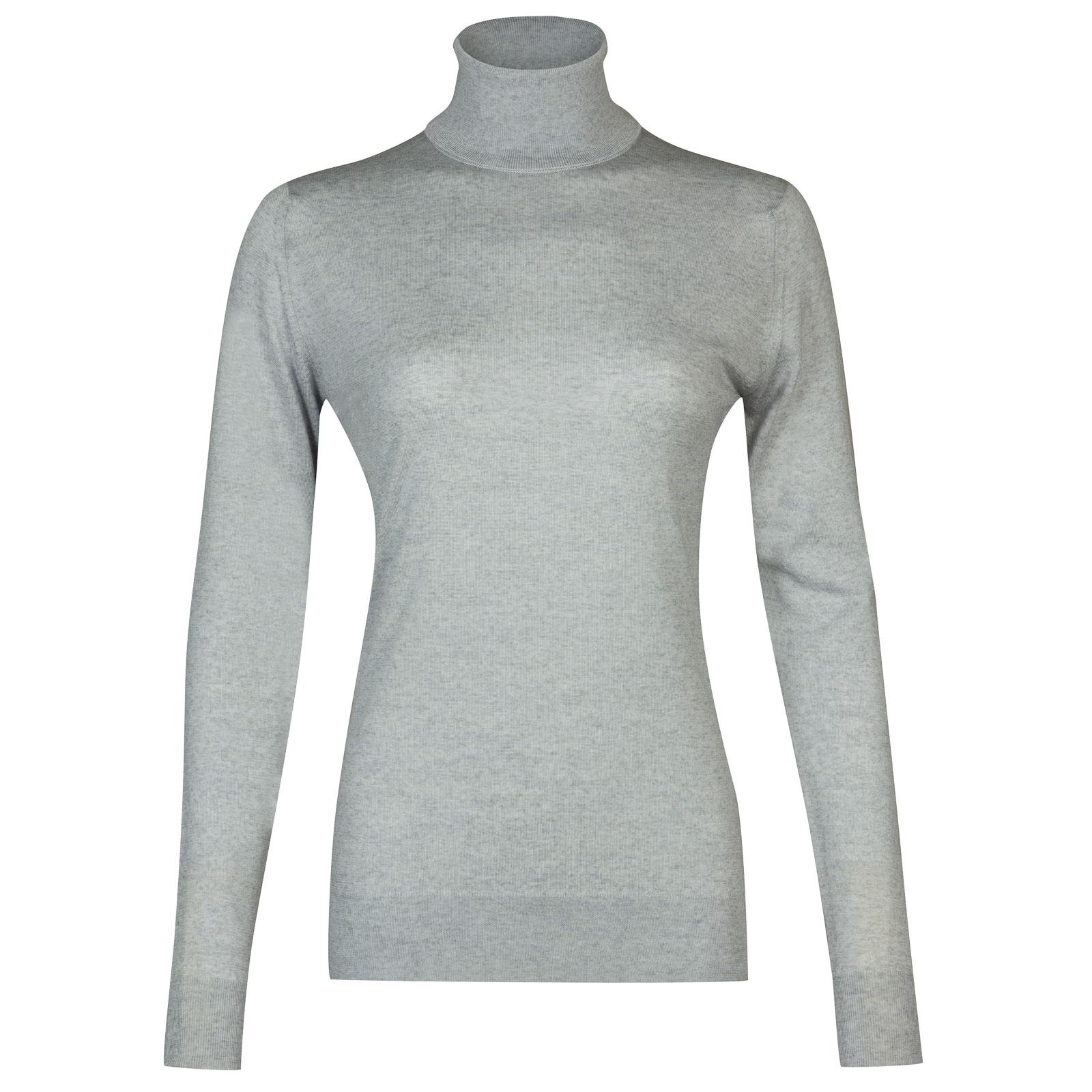 John Smedley Catkin Merino Wool Sweater in Bardot Grey-M