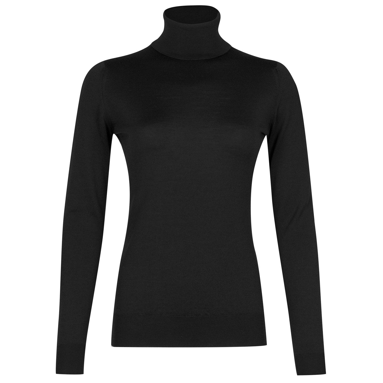 John Smedley Catkin Merino Wool Sweater in Black-M