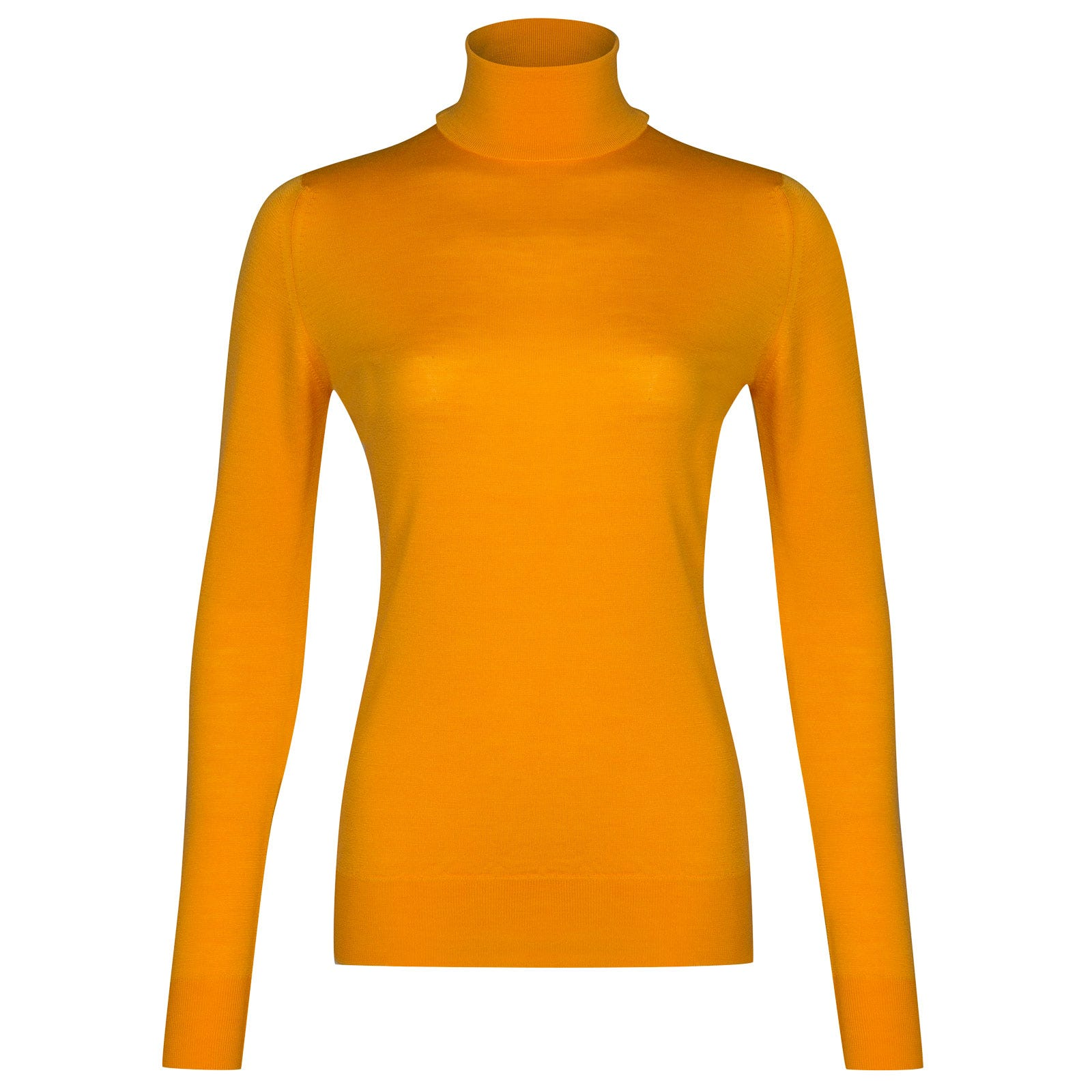 John Smedley Catkin Merino Wool Sweater in Buckthorn Orange-XL