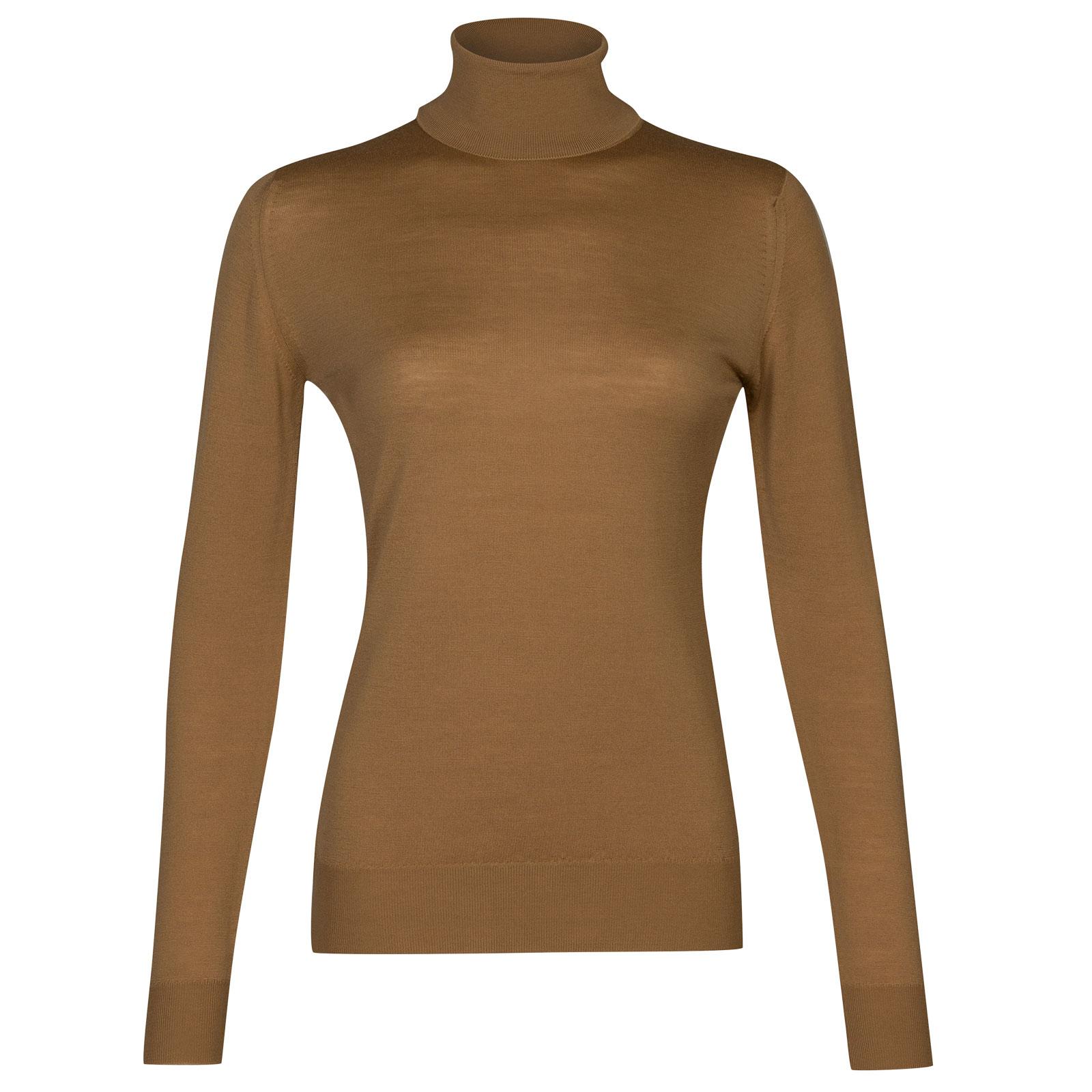 John Smedley Catkin Merino Wool Sweater in Camel-L