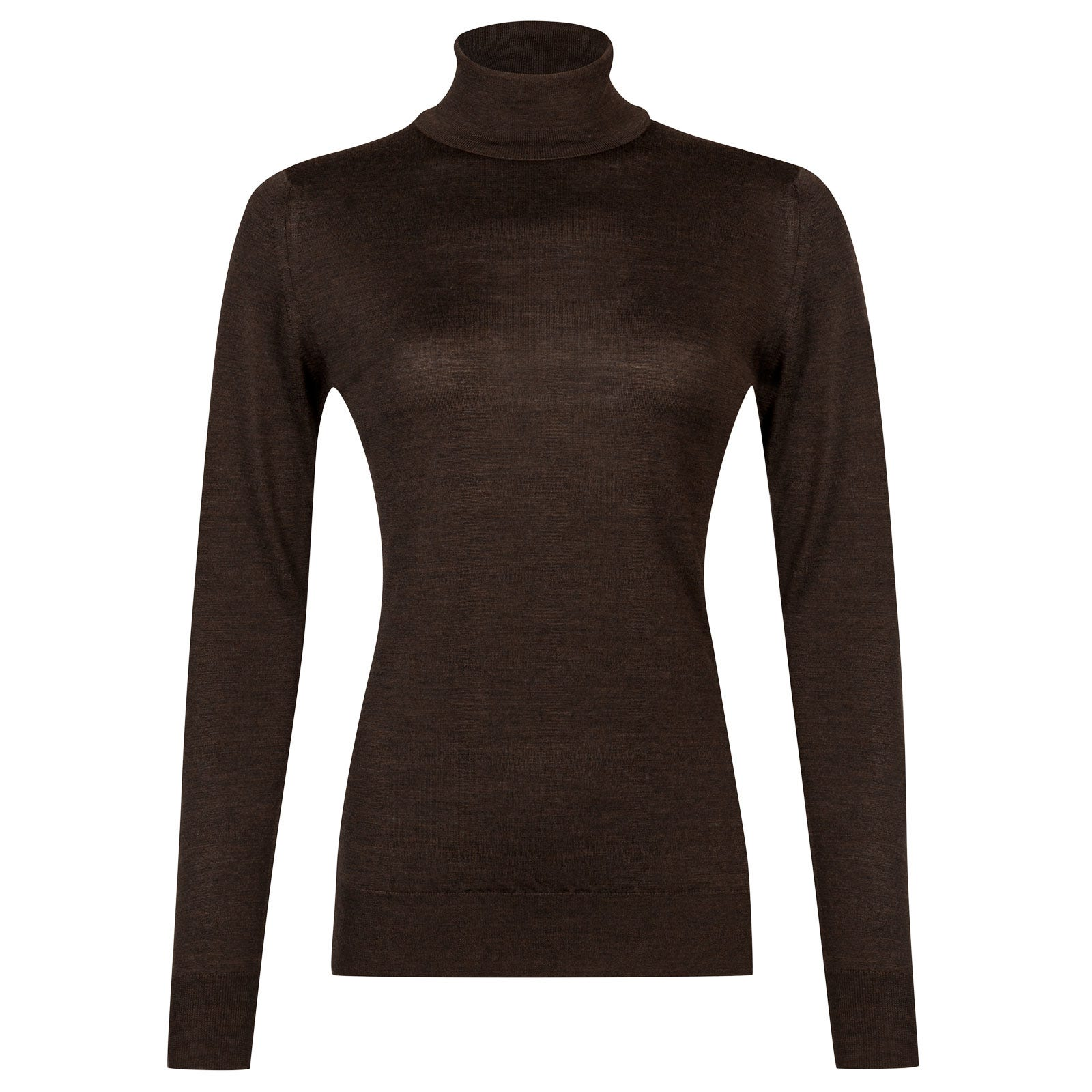 John Smedley Catkin Merino Wool Sweater in Chestnut-XL