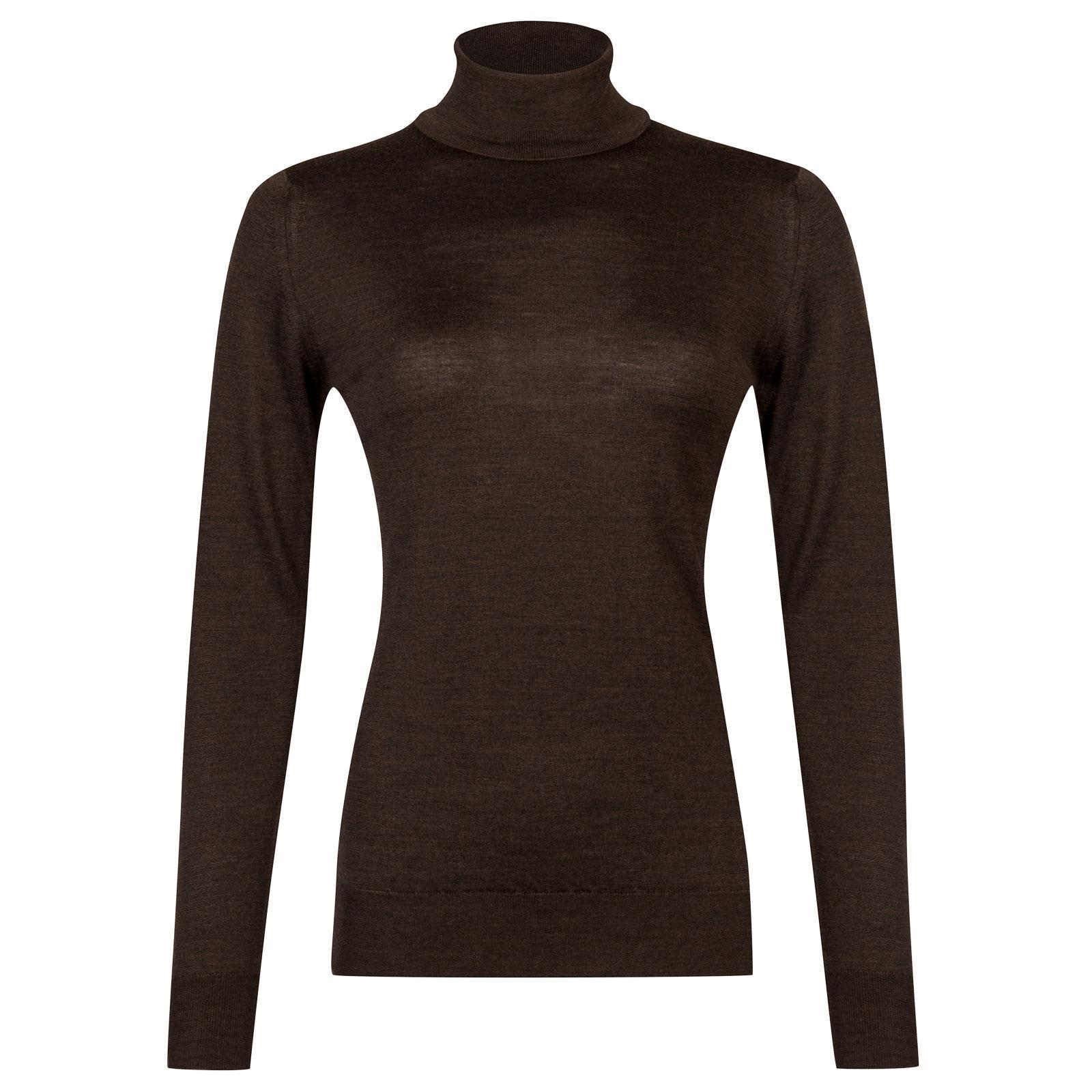 John Smedley Catkin Merino Wool Sweater in Chestnut-M