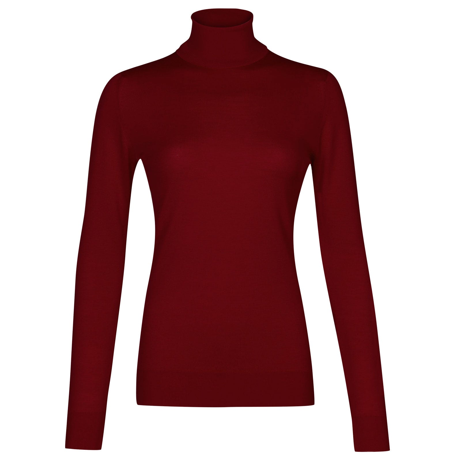 John Smedley Catkin Merino Wool Sweater in Crimson Forest-XL