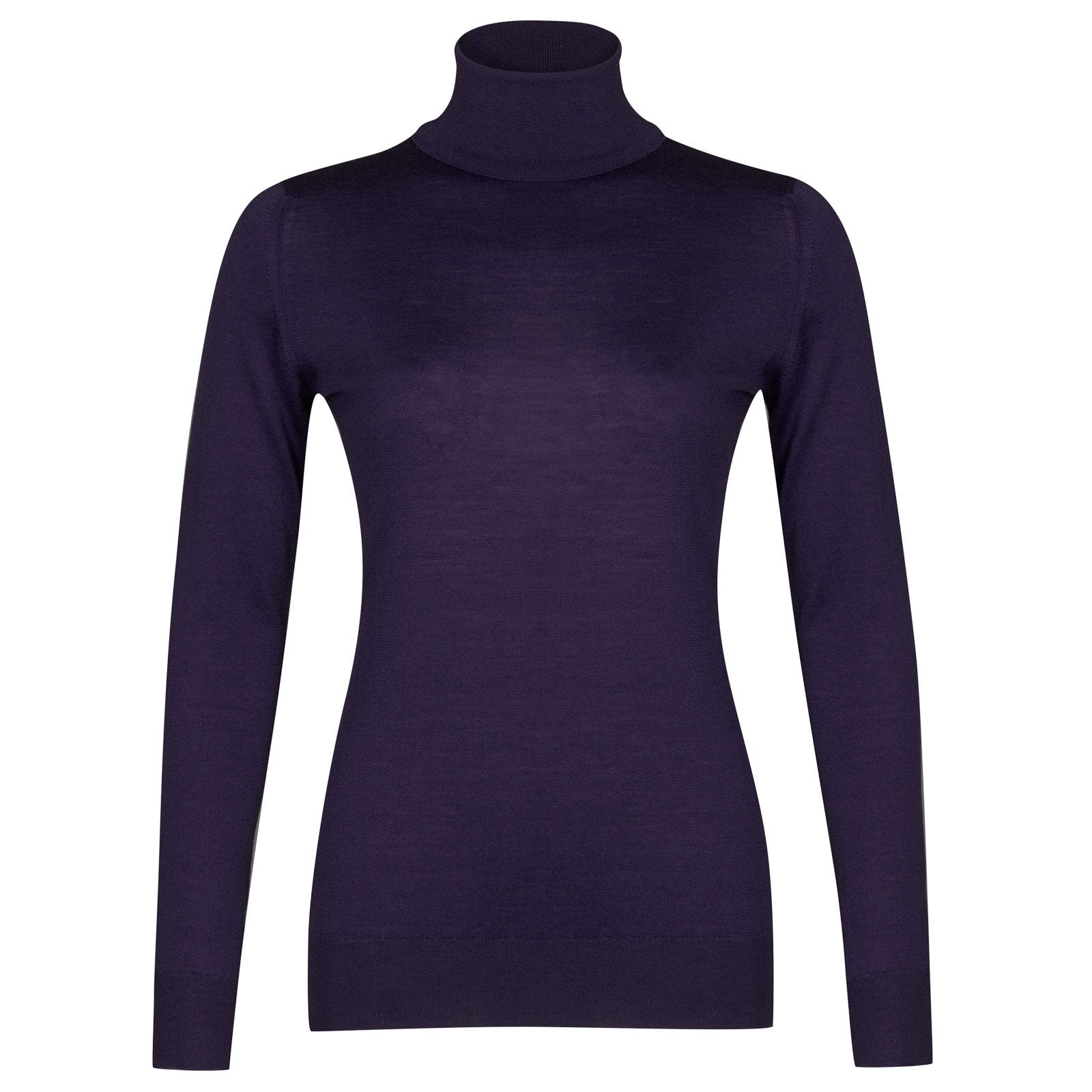 John Smedley Catkin Merino Wool Sweater in Elderberry Purple-M