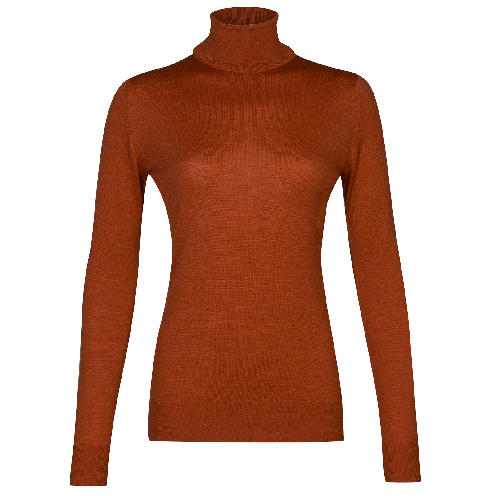 John Smedley Catkin Merino Wool Sweater in Flare Orange-XL