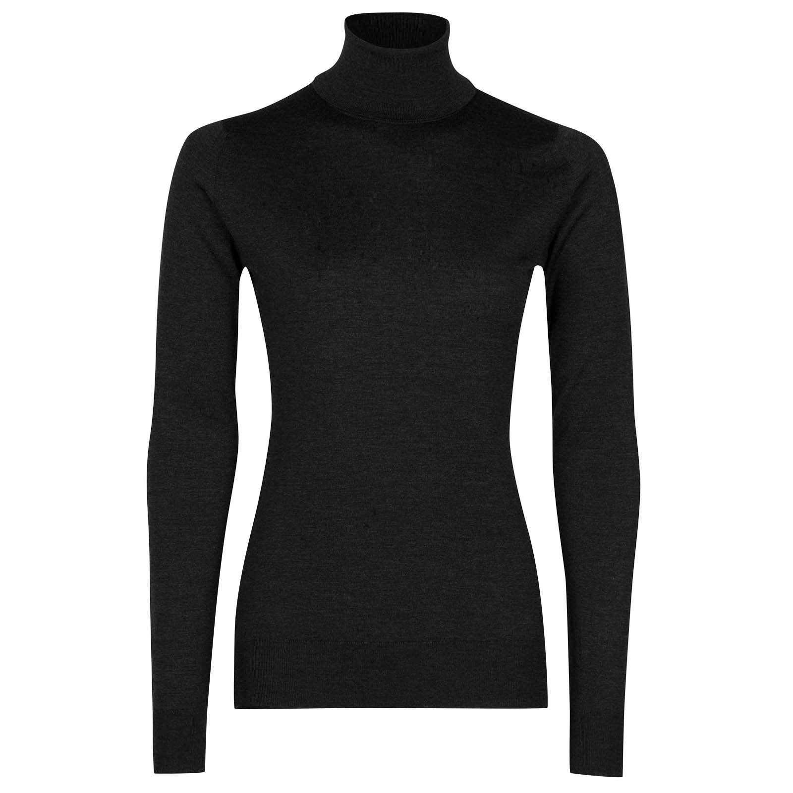 John Smedley Catkin Merino Wool Sweater in Hepburn Smoke-XL
