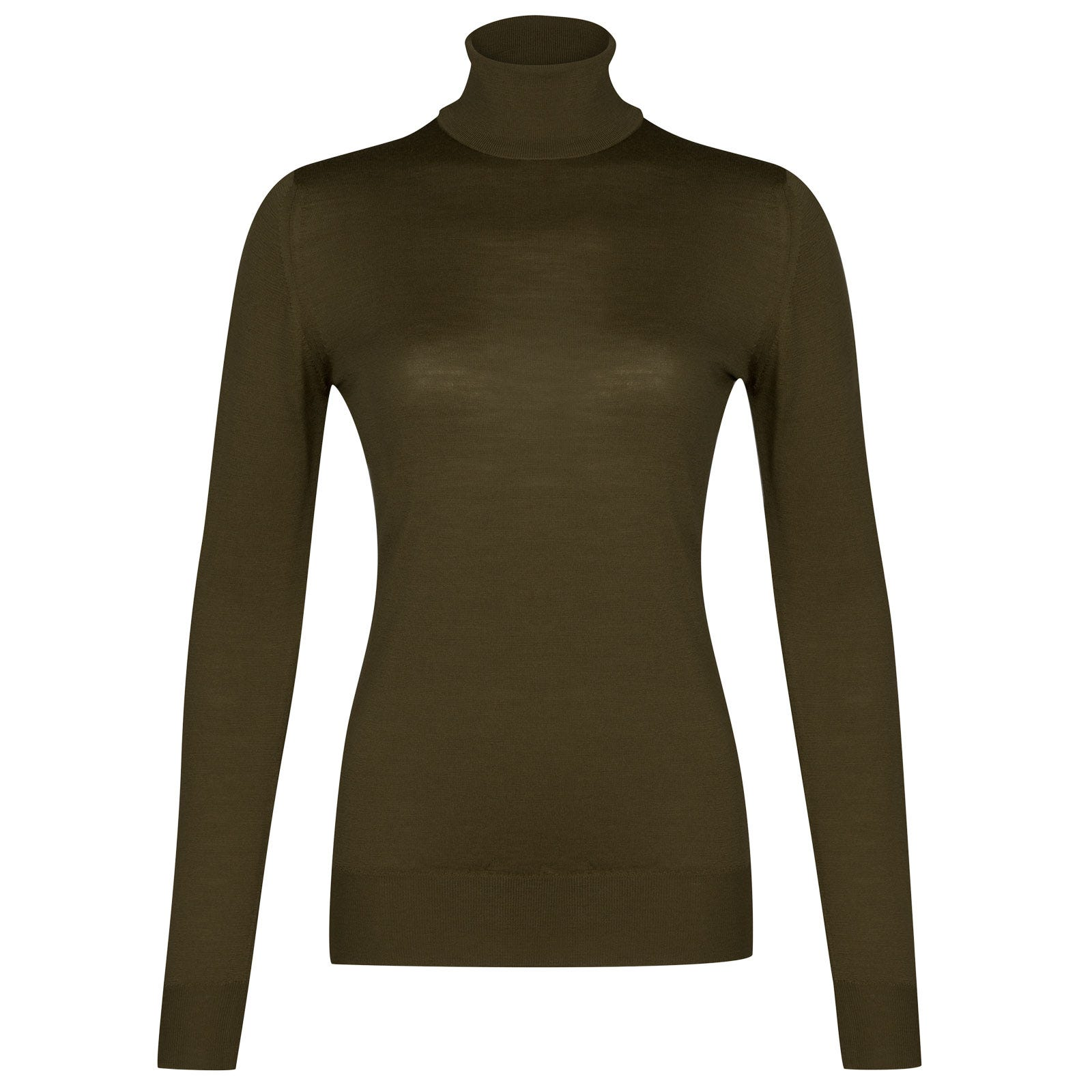 John Smedley Catkin Merino Wool Sweater in Kielder Green-S