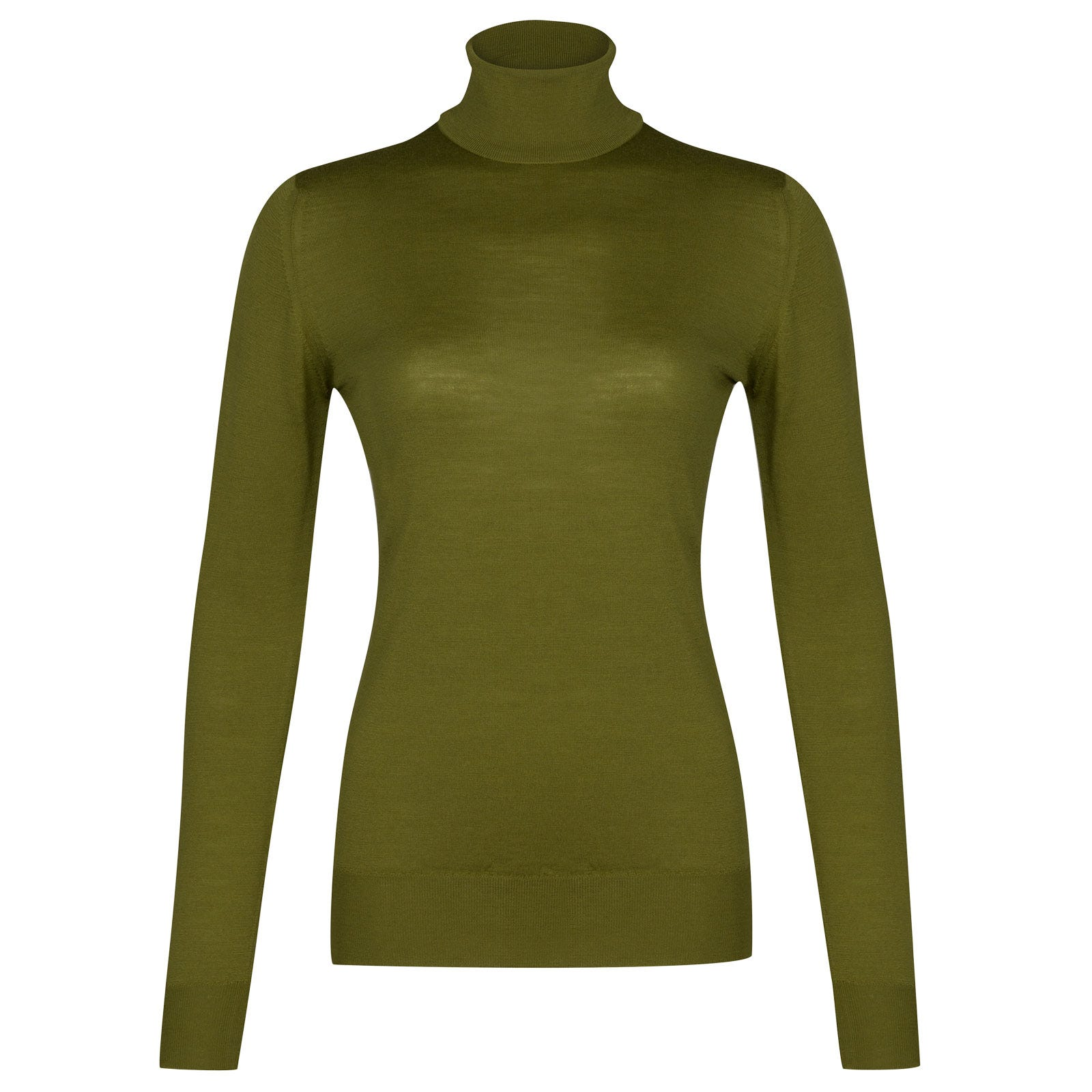John Smedley Catkin Merino Wool Sweater in Lumsdale Green-M