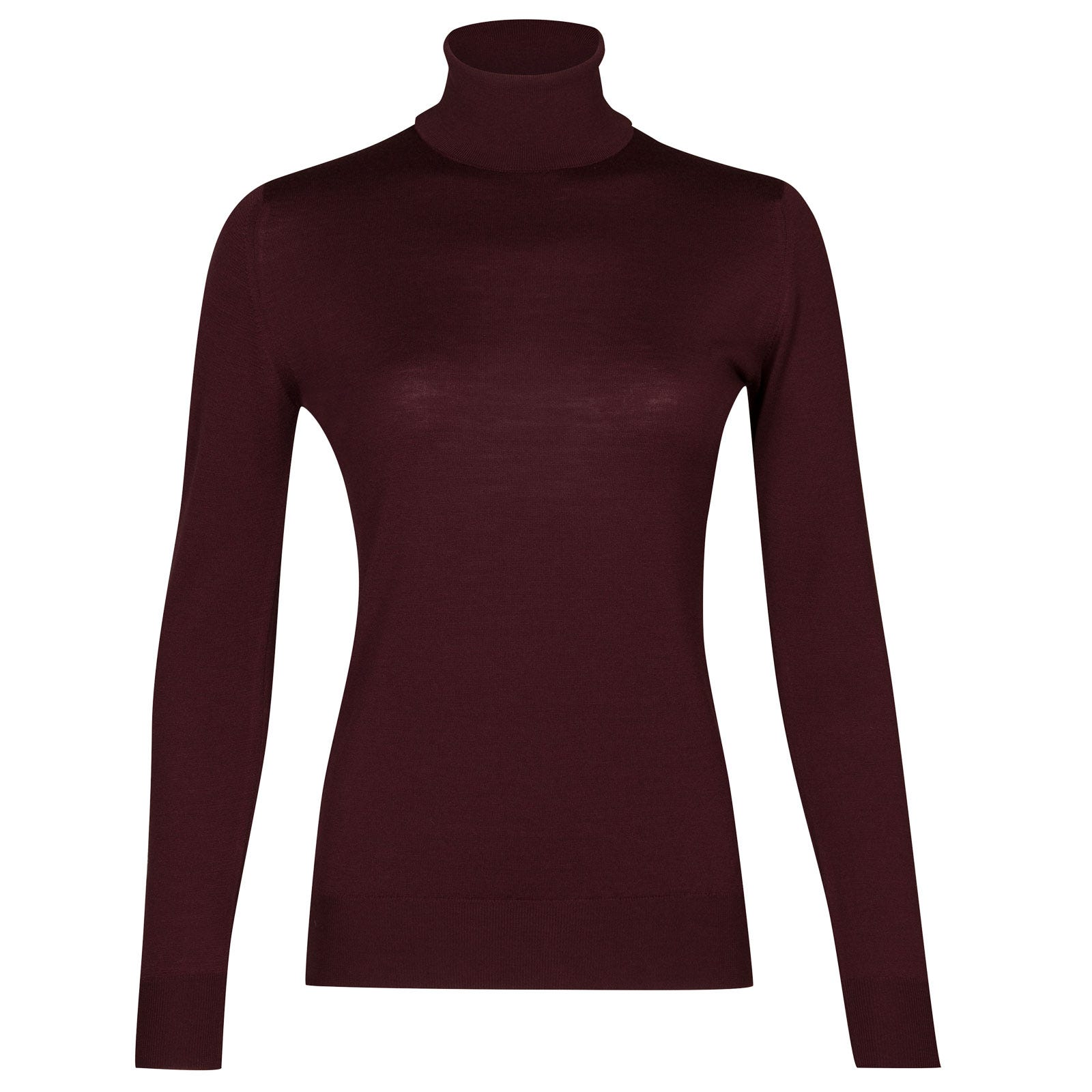 John Smedley Catkin Merino Wool Sweater in Maroon Blaze-L