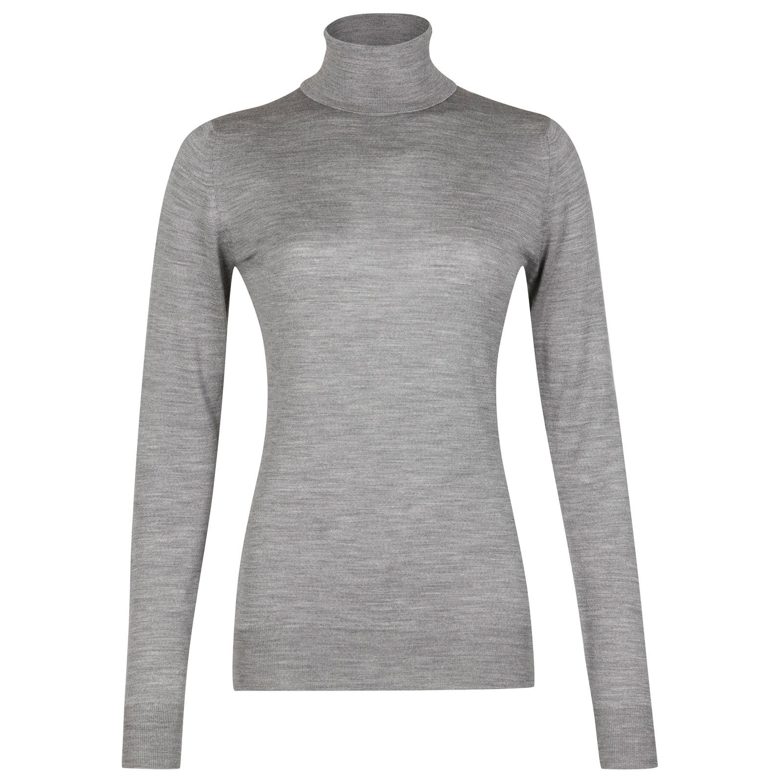 John Smedley Catkin Merino Wool Sweater in Silver-XL