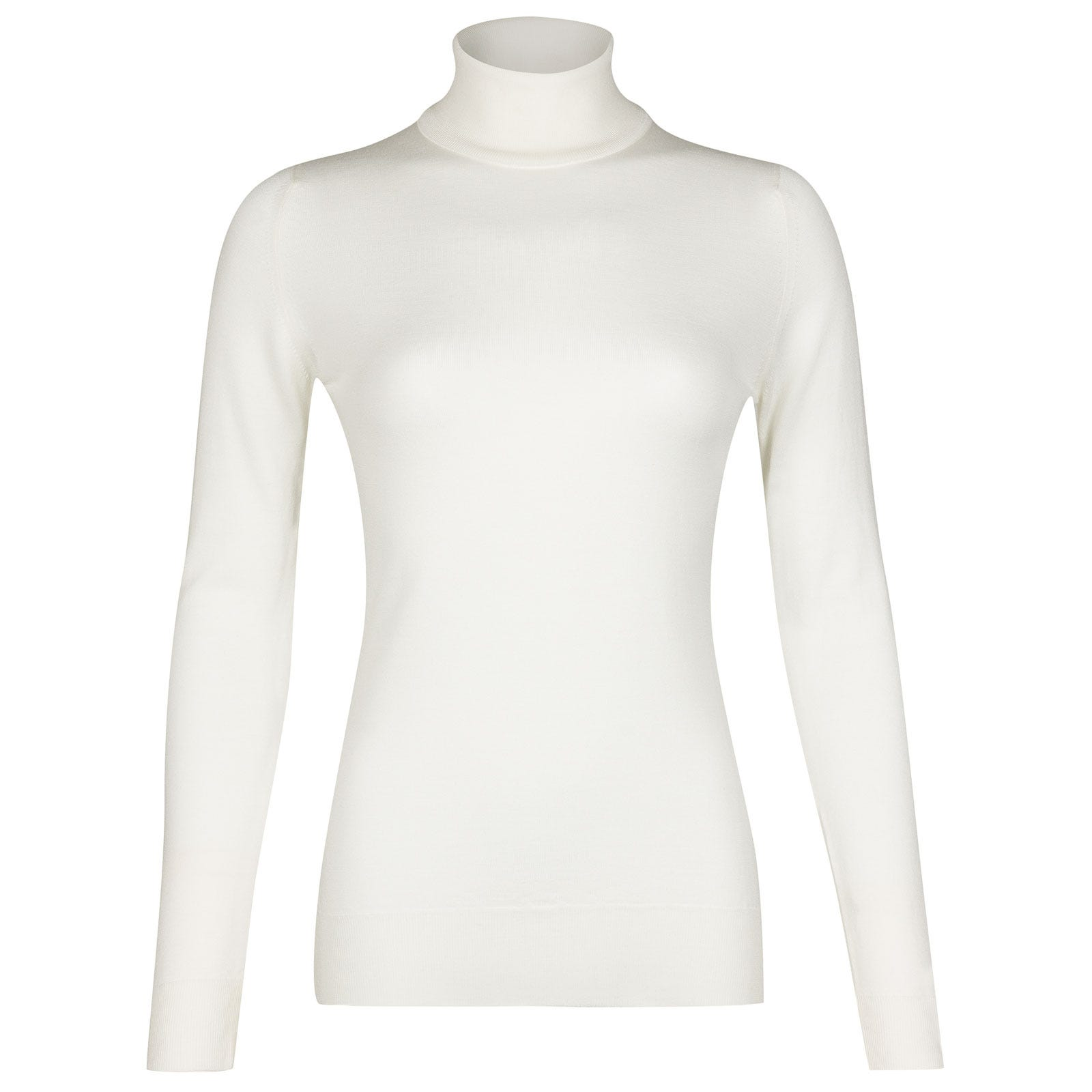 John Smedley Catkin Merino Wool Sweater in Snow White-XL