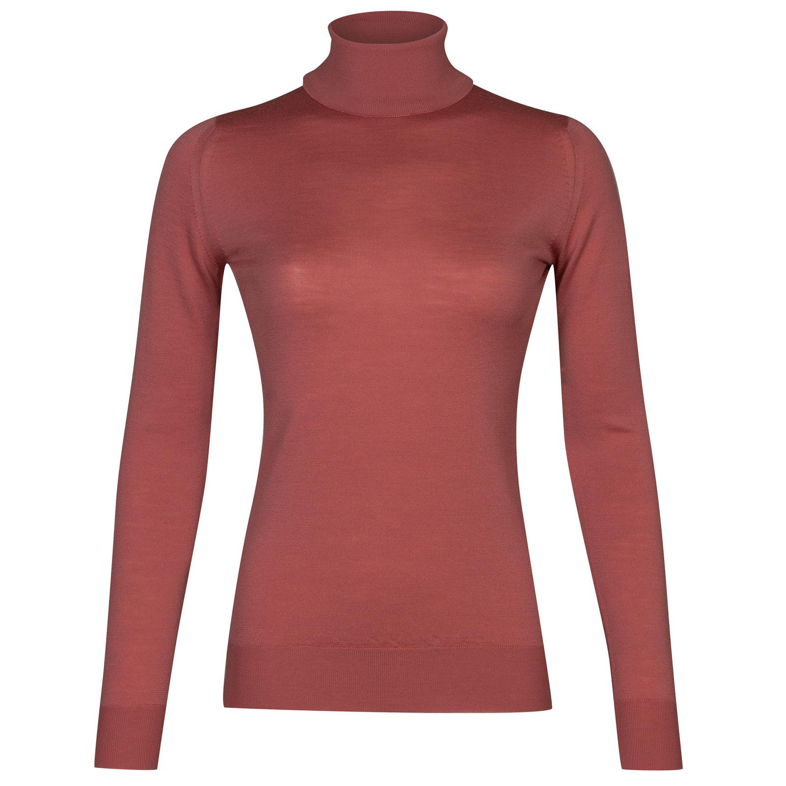 John Smedley Catkin Merino Wool Sweater in Stanton Pink-L