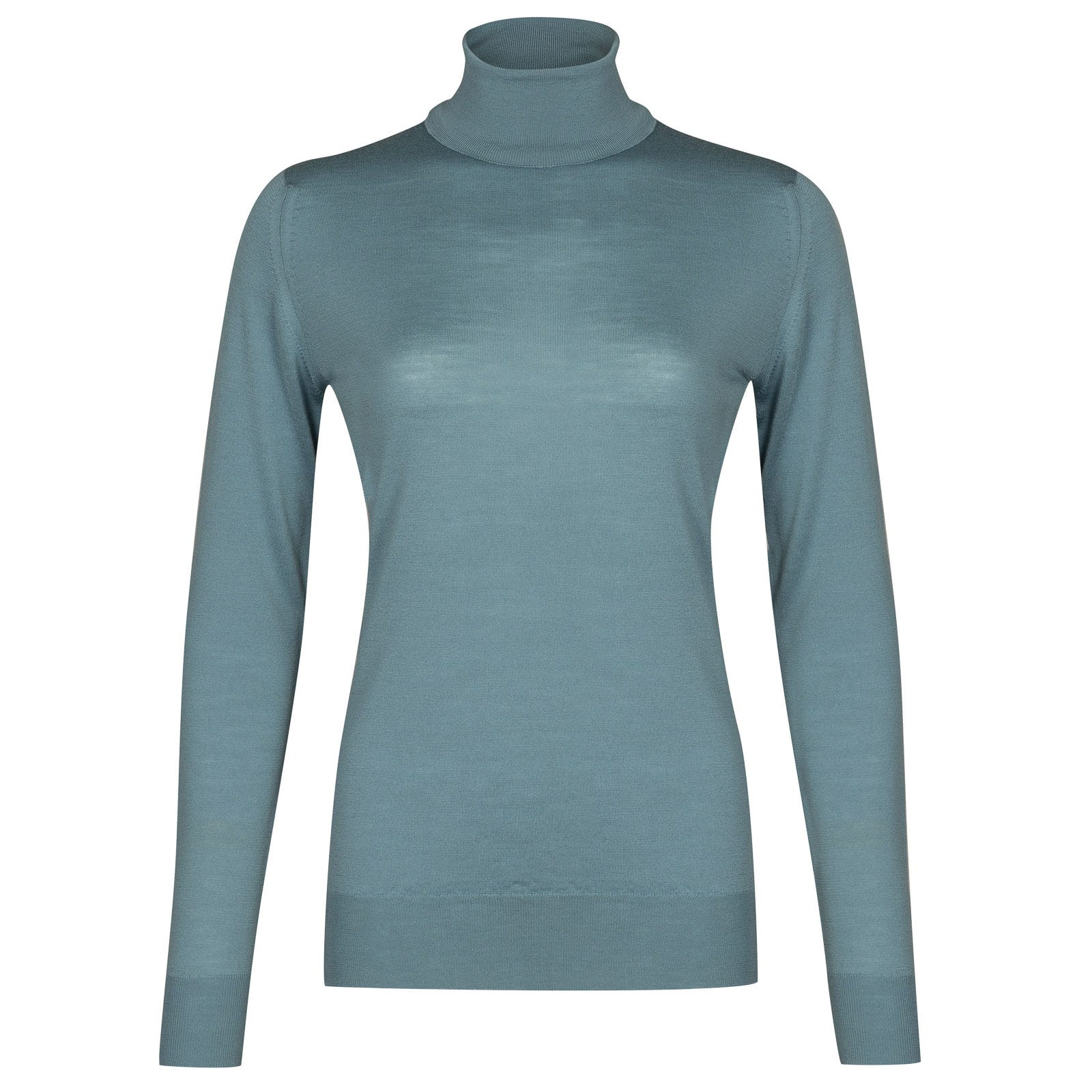 John Smedley Catkin Merino Wool Sweater in Summit Blue-XL