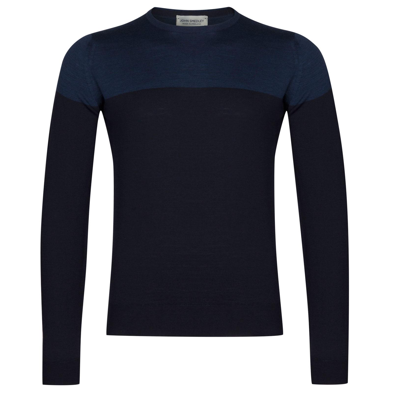 John Smedley chaldon Extra Fine Merino Wool Pullover in Midnight-XL