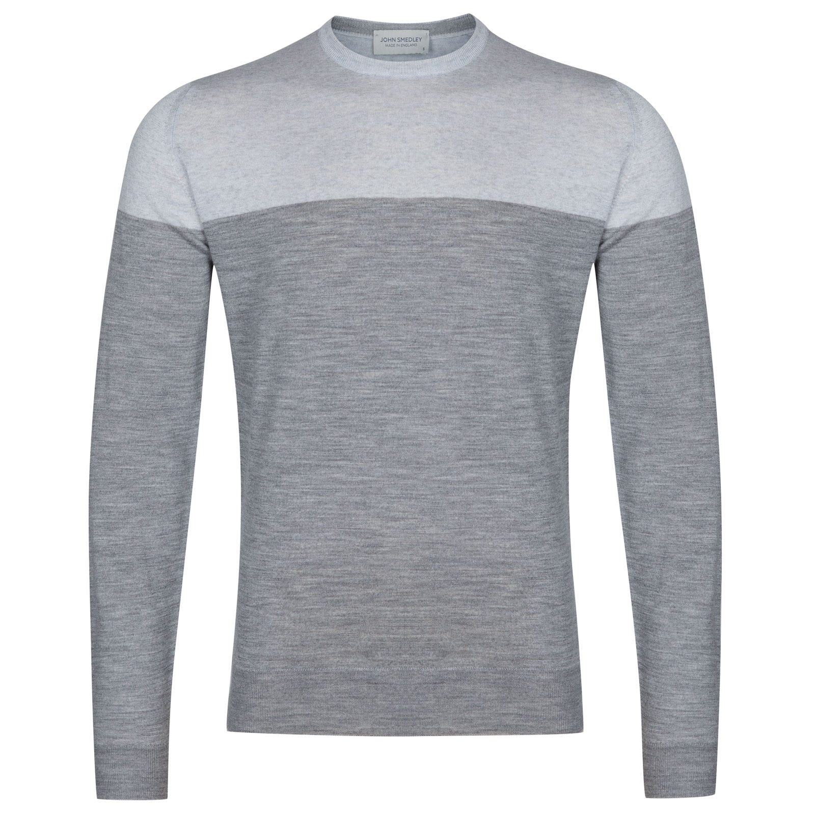 John Smedley Chaldon Extra Fine Merino Pullover in Silver-S