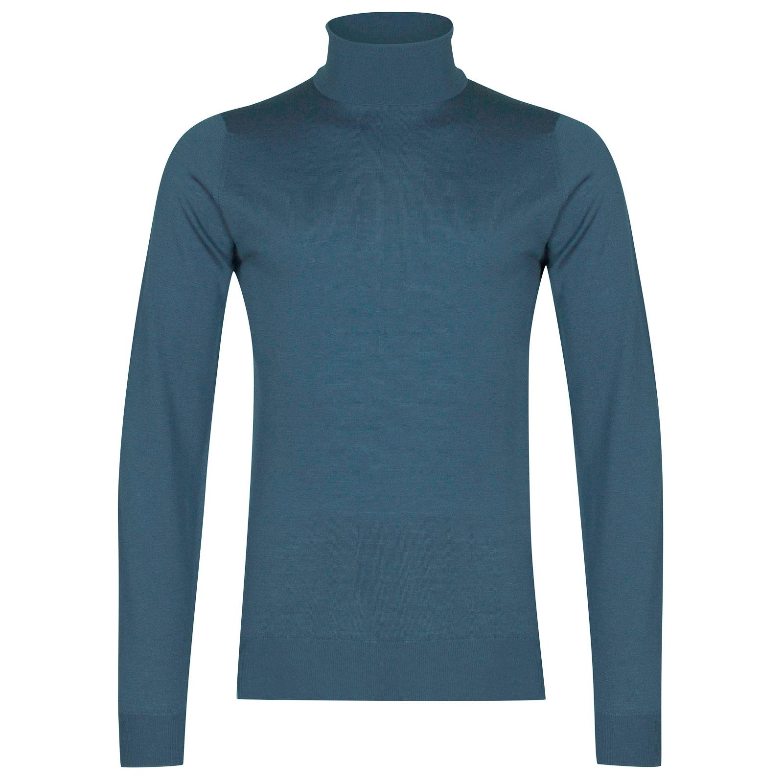 John Smedley Cherwell Merino Wool Pullover in Bias Blue-L