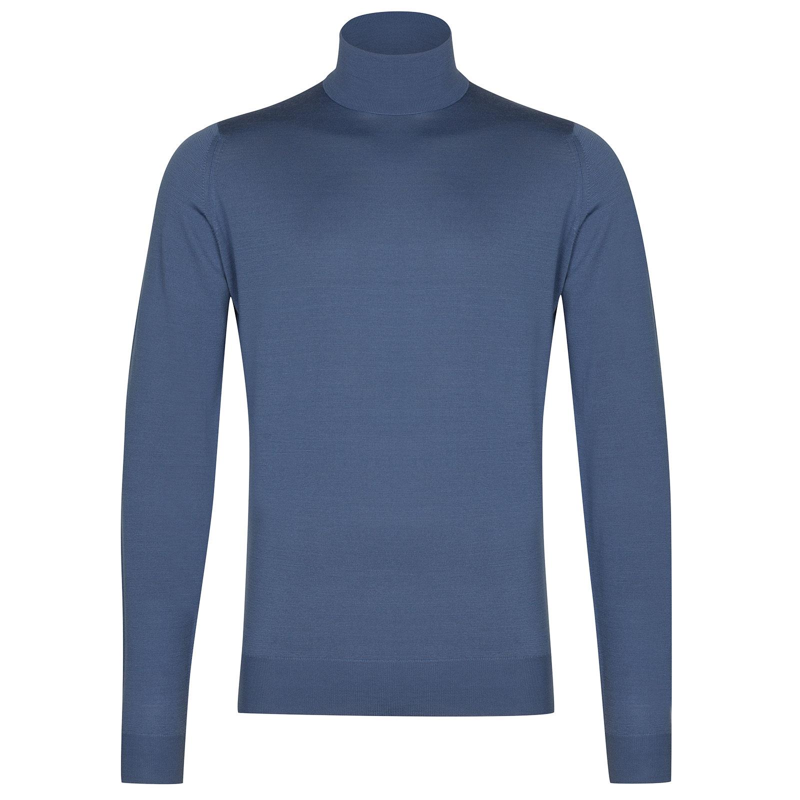 John Smedley Cherwell in Blue Iris Pullover-LGE