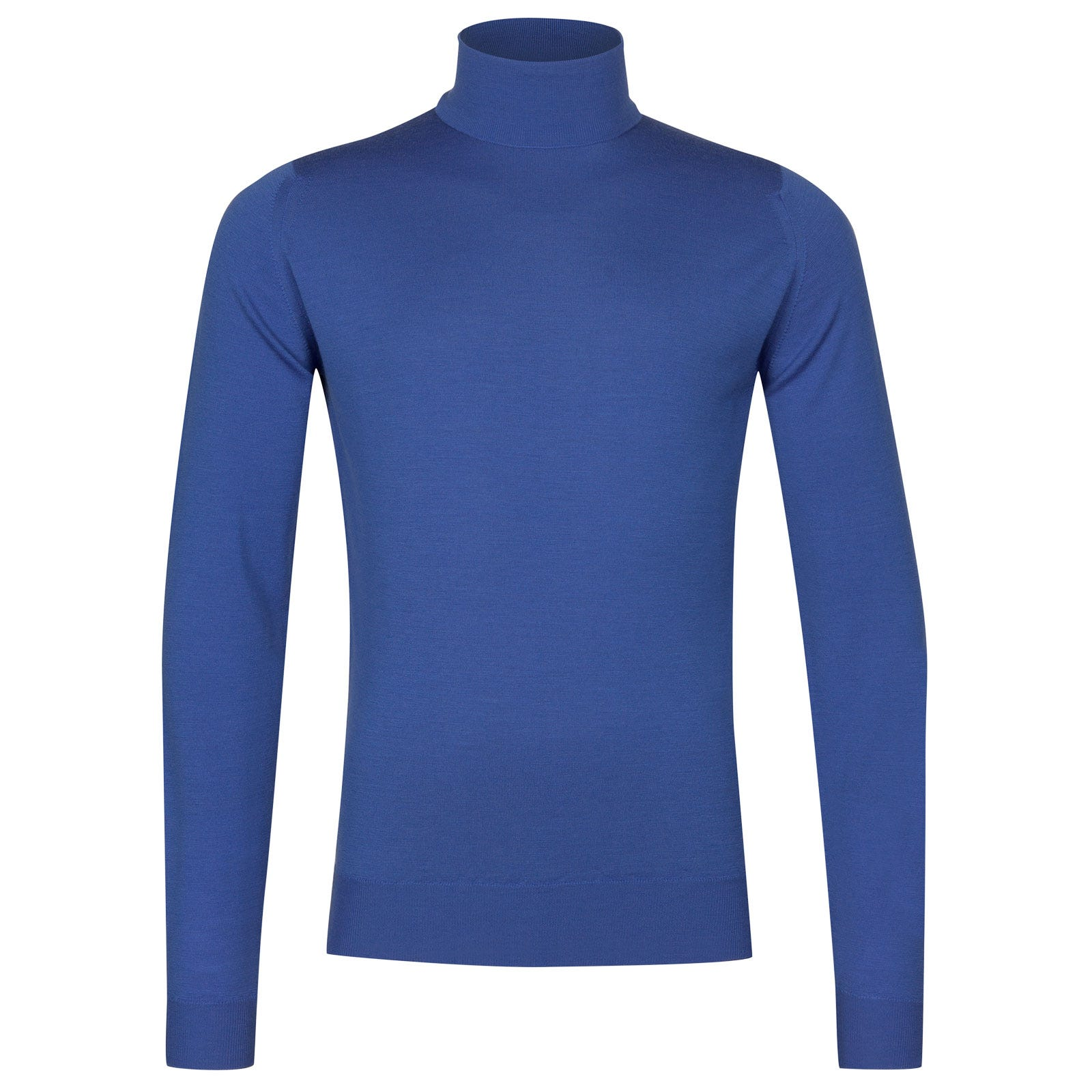 John Smedley Cherwell Merino Wool Pullover in Chambray Blue-L