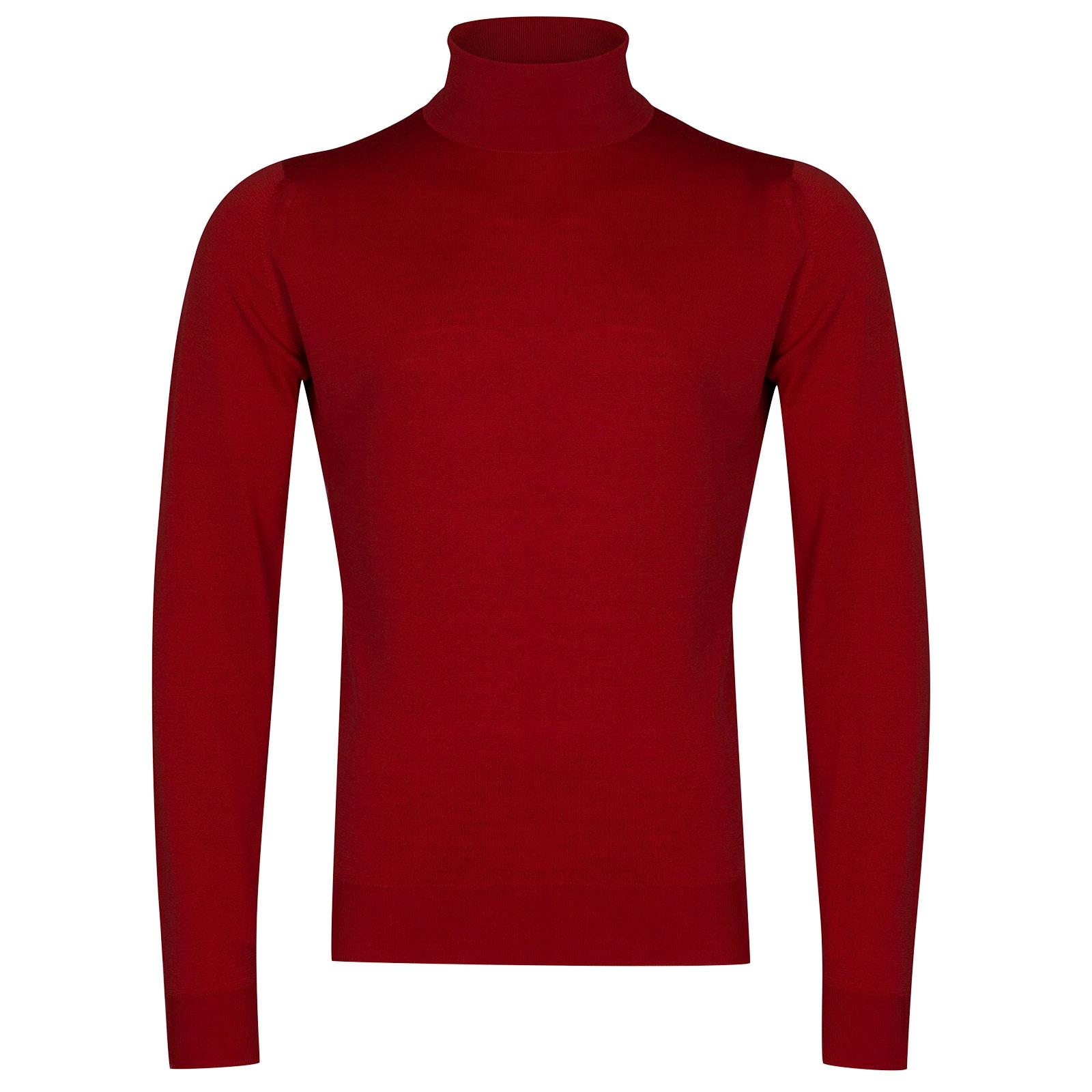 John Smedley cherwell Merino Wool Pullover in Crimson Forest-XL