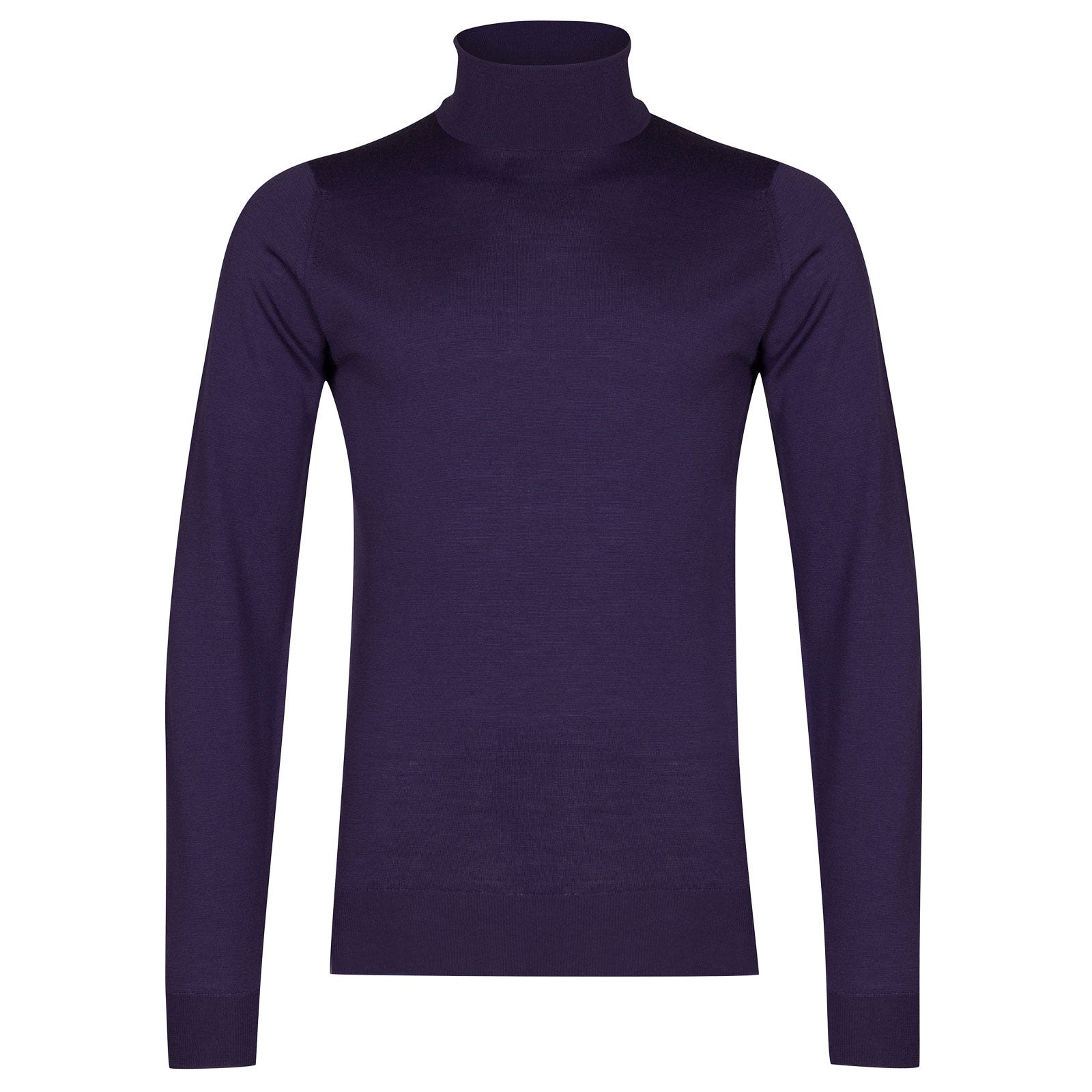 John Smedley cherwell Merino Wool Pullover in Elderberry Purple-M