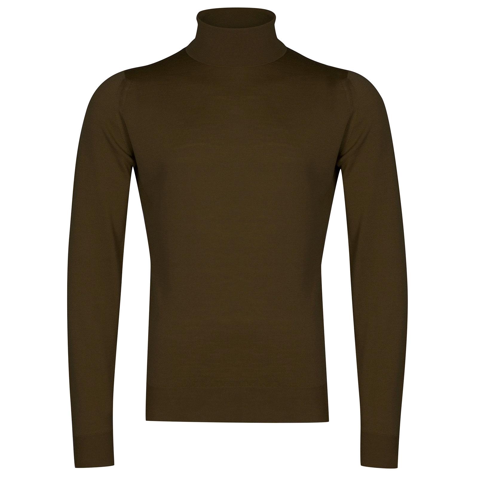 John Smedley Cherwell Merino Wool Pullover in Khaki-XL
