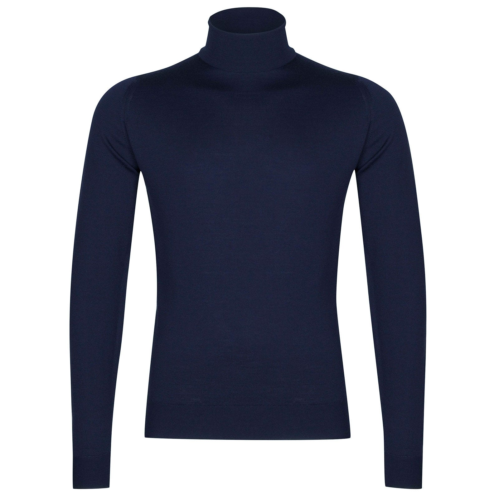 John Smedley Cherwell Merino Wool Pullover in Magnetic Cobalt-XL