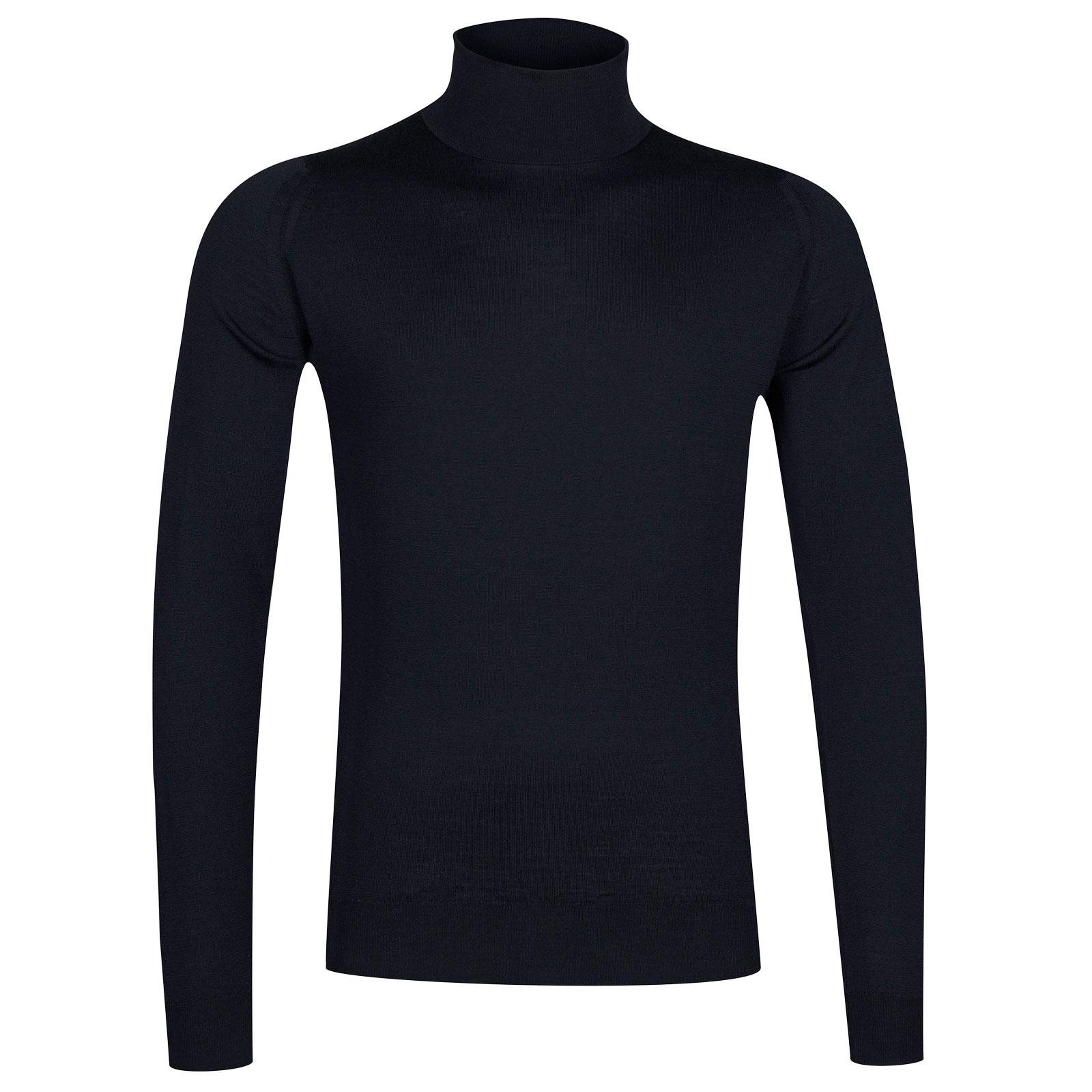 John Smedley cherwell Merino Wool Pullover in Midnight-XXL