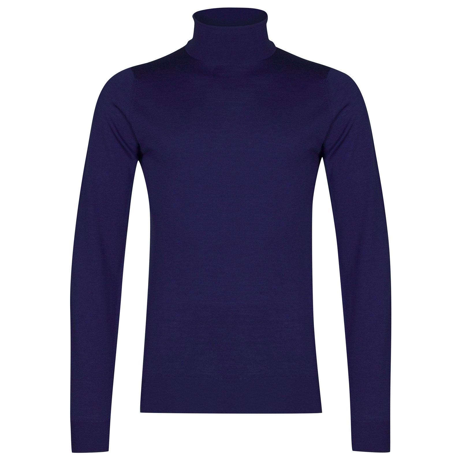 John Smedley Cherwell Merino Wool Pullover in Serge Blue-M