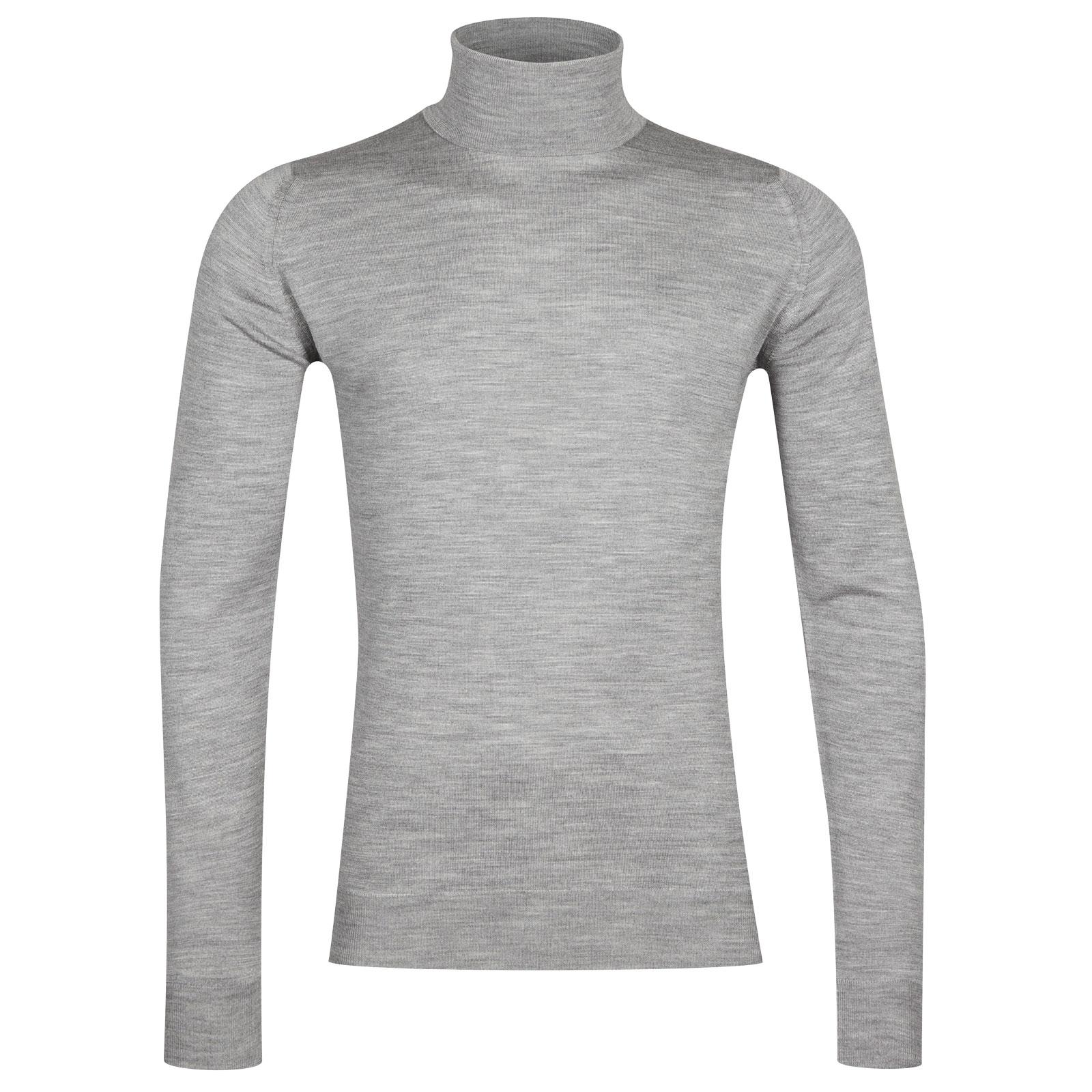 John Smedley cherwell Merino Wool Pullover in Silver-XL